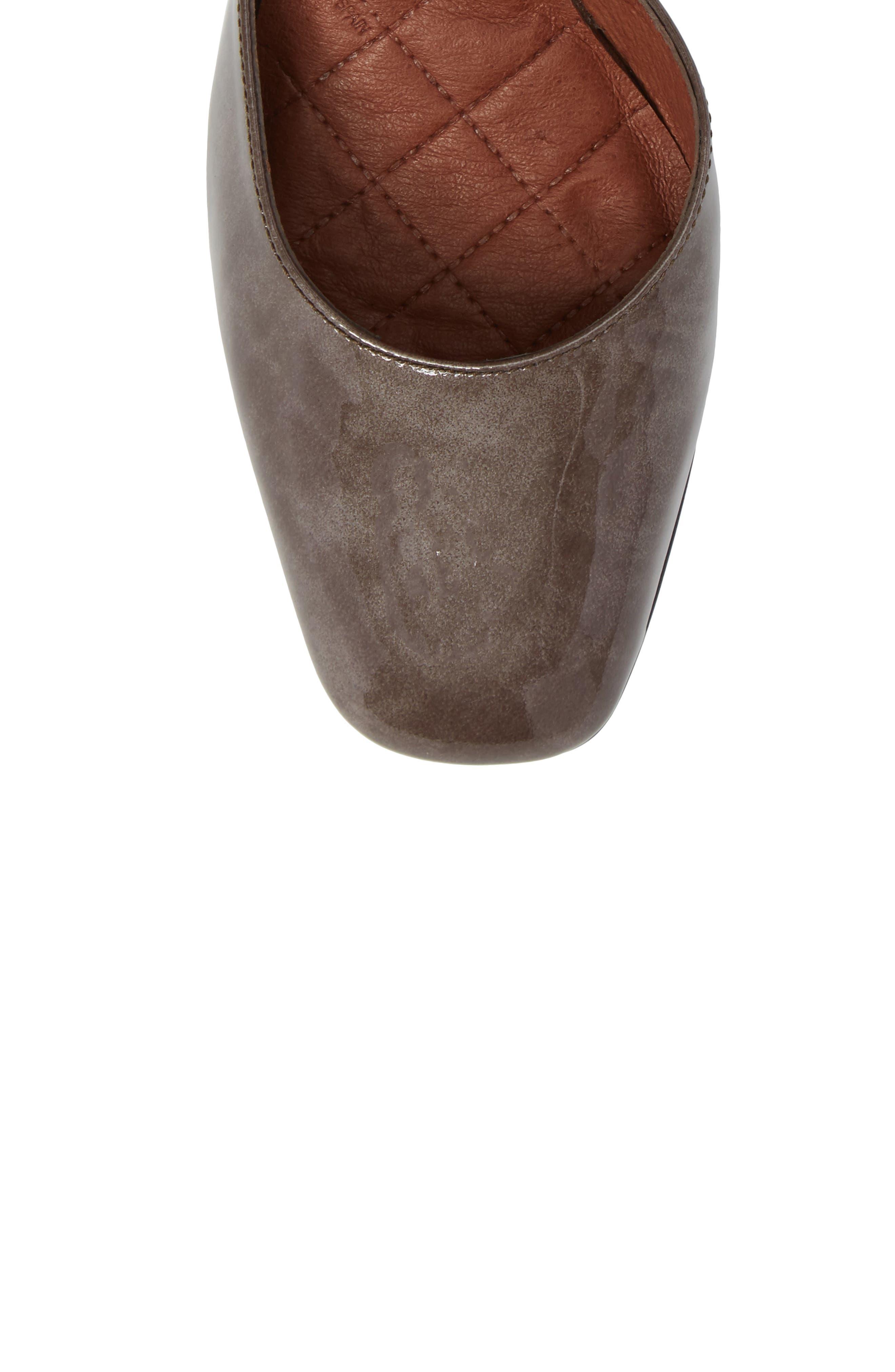 Paulette Flared Heel Pump,                             Alternate thumbnail 5, color,                             Vision Leather