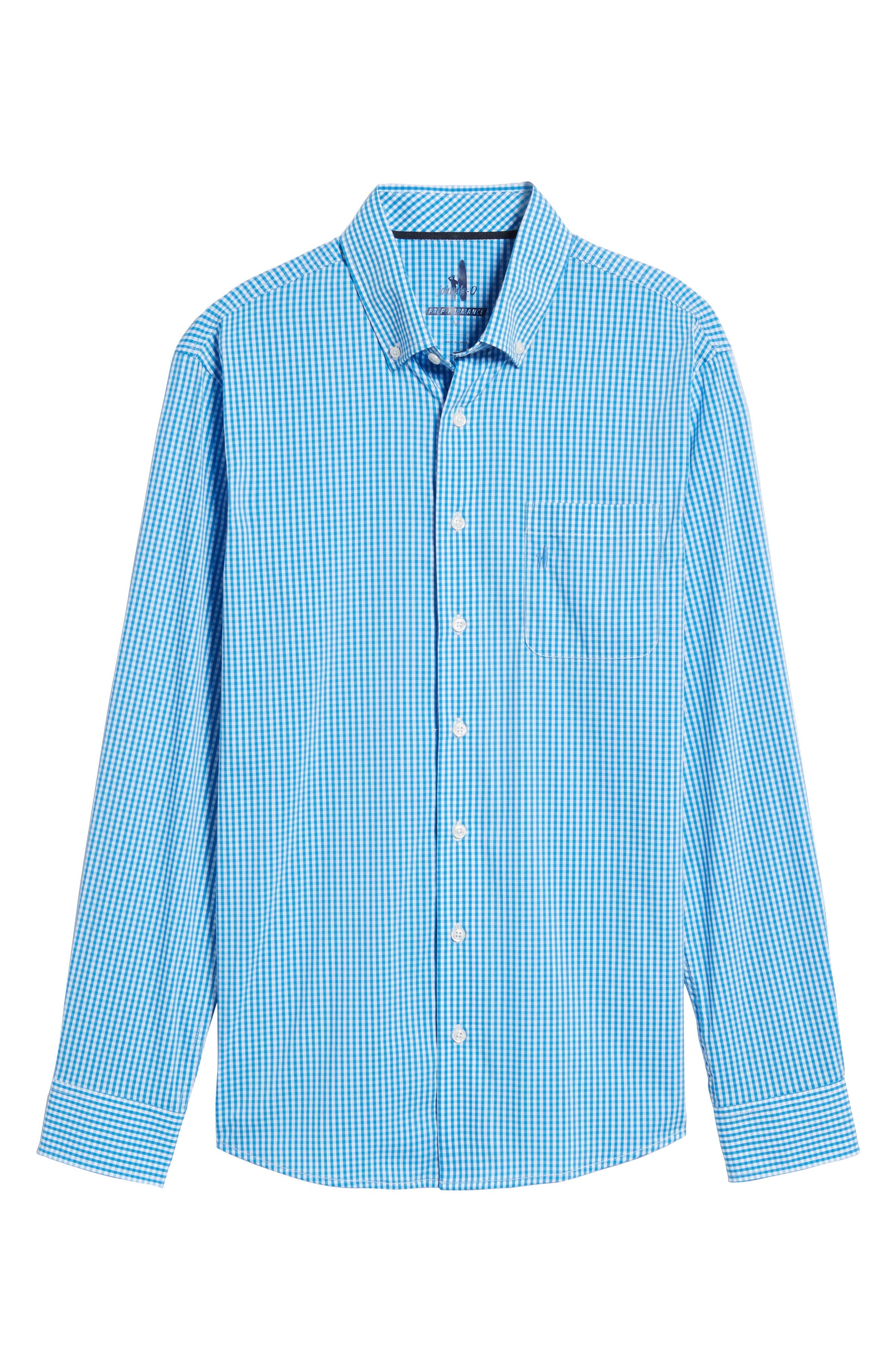 Augusta Classic Fit Check Sport Shirt,                             Alternate thumbnail 5, color,                             Oasis