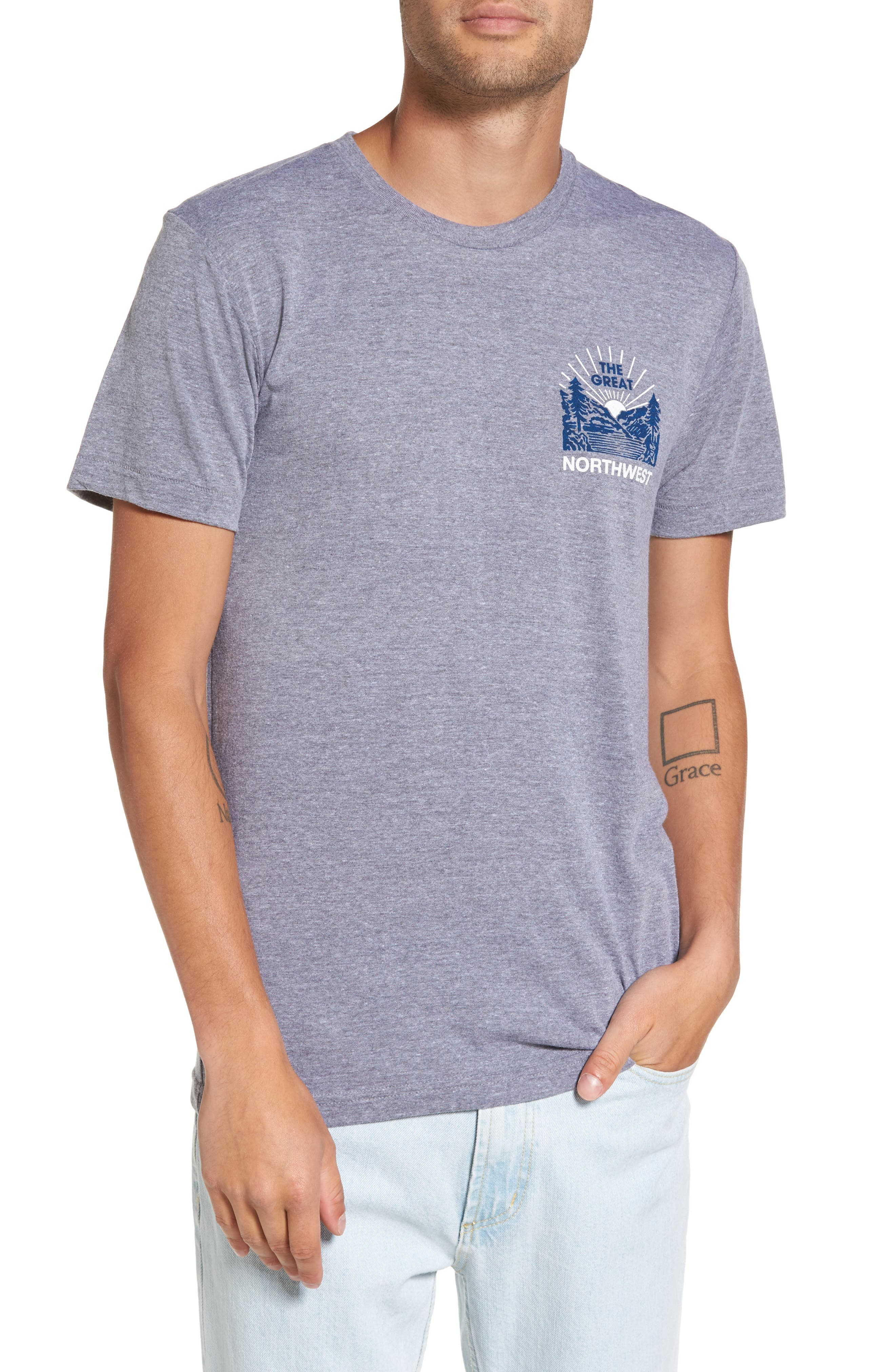 Squatch Valley 2 Graphic T-Shirt,                         Main,                         color, Tri Gray