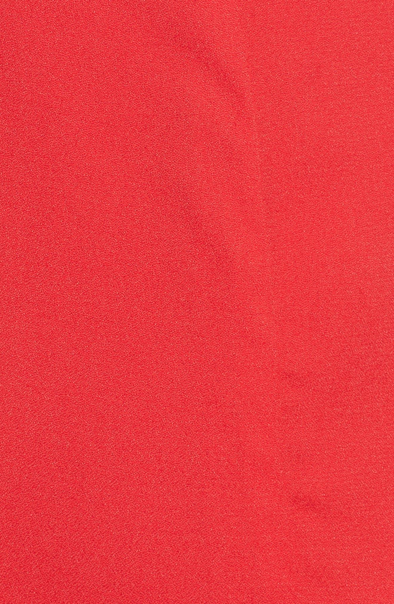 Chelsea Lattice Back Fit & Flare Dress,                             Alternate thumbnail 5, color,                             Red