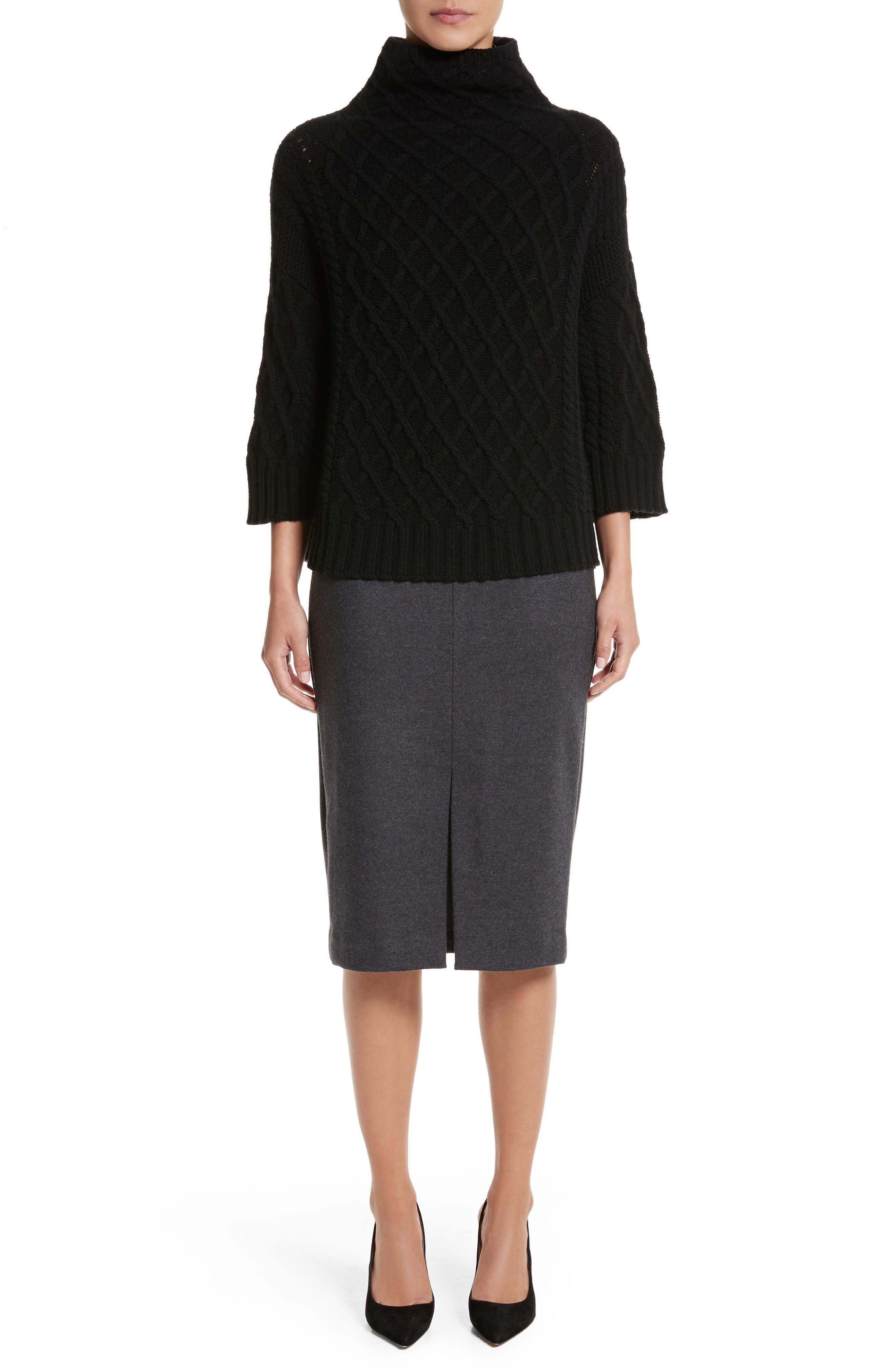 Alternate Image 7  - Max Mara Cantone Wool & Cashmere Funnel Neck Sweater