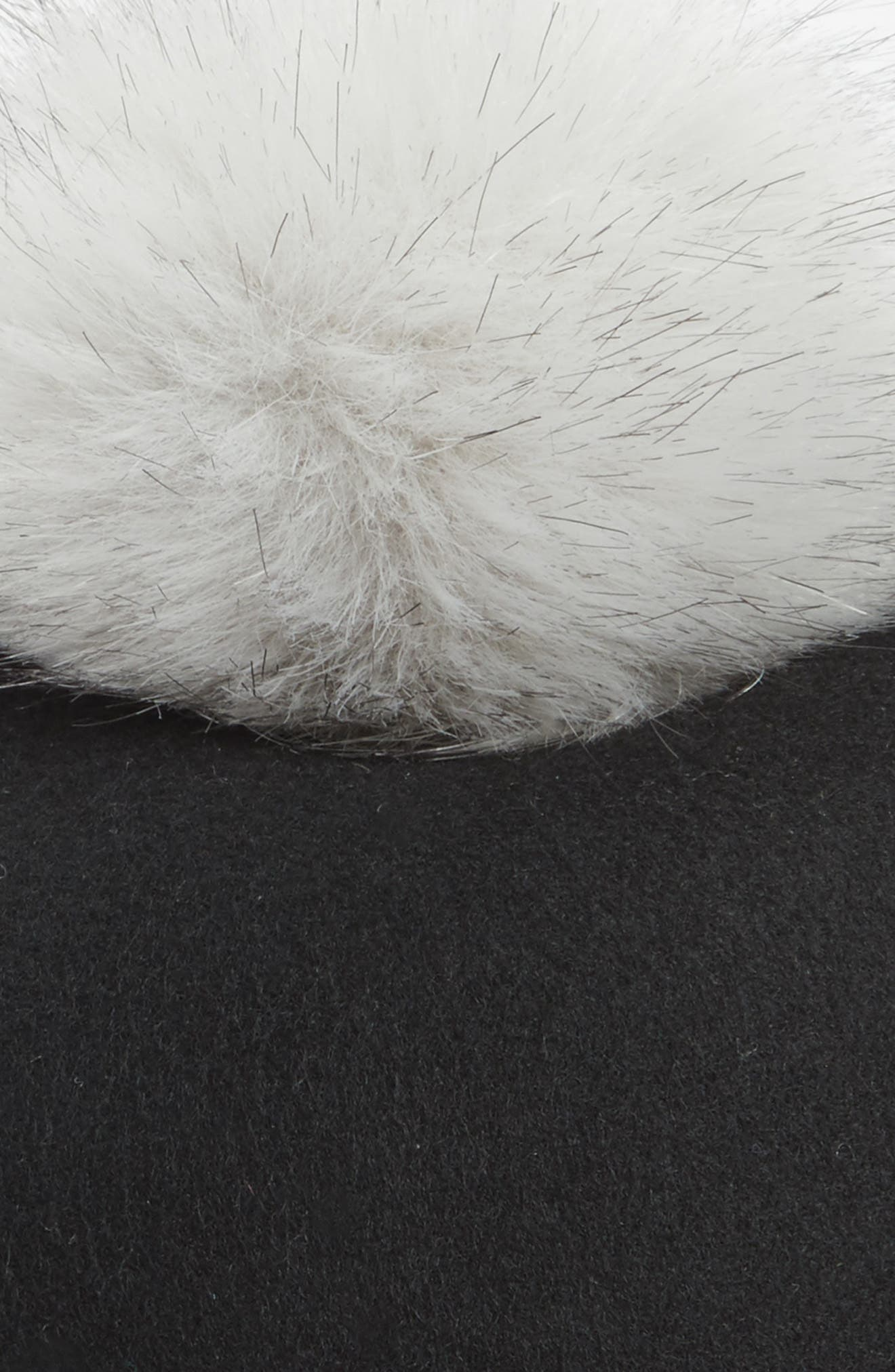 Alternate Image 2  - Halogen® Faux Fur Pom Jockey Cap