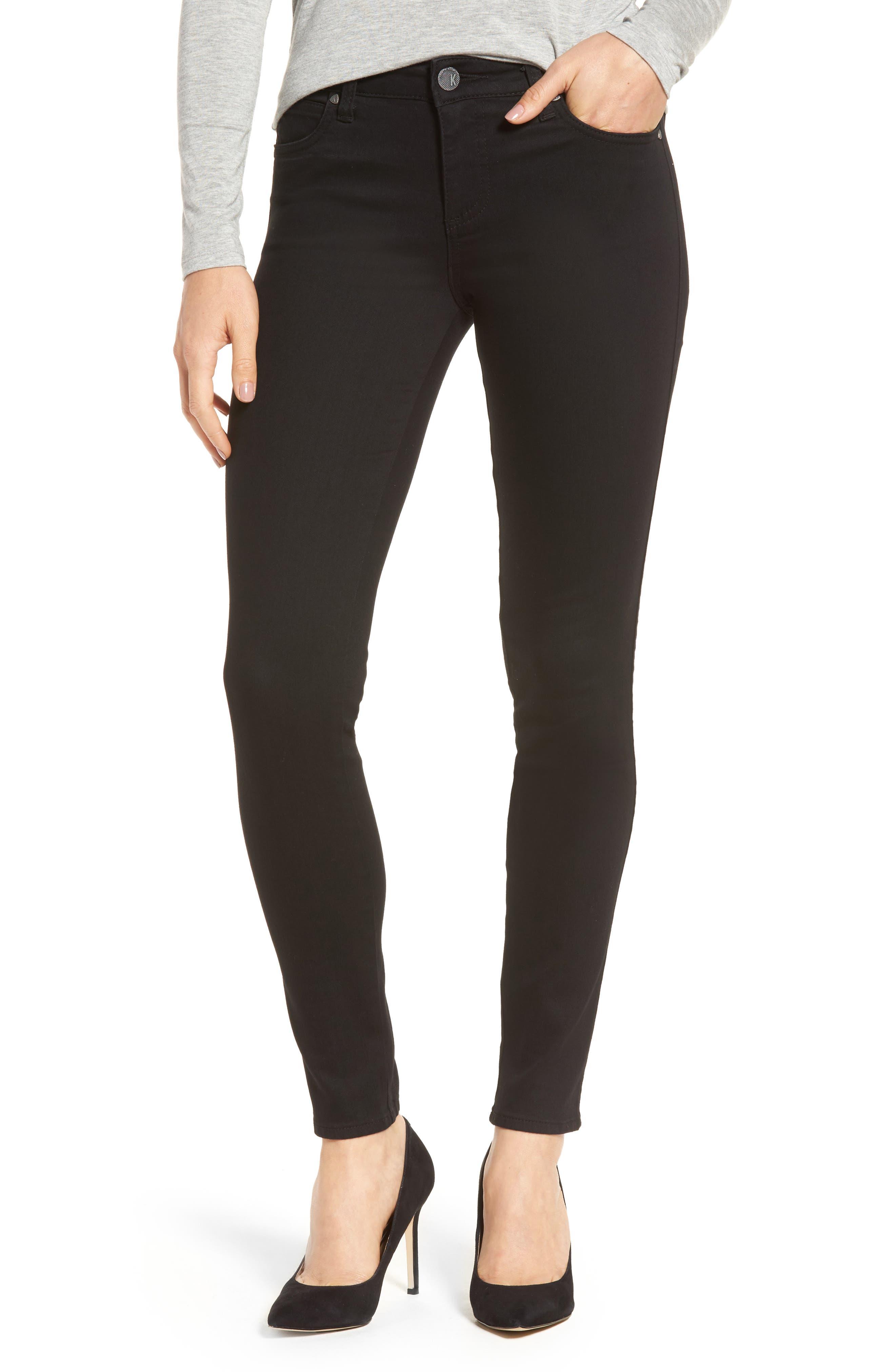 Diana Curvy Fit Skinny Jeans,                             Main thumbnail 1, color,                             Black
