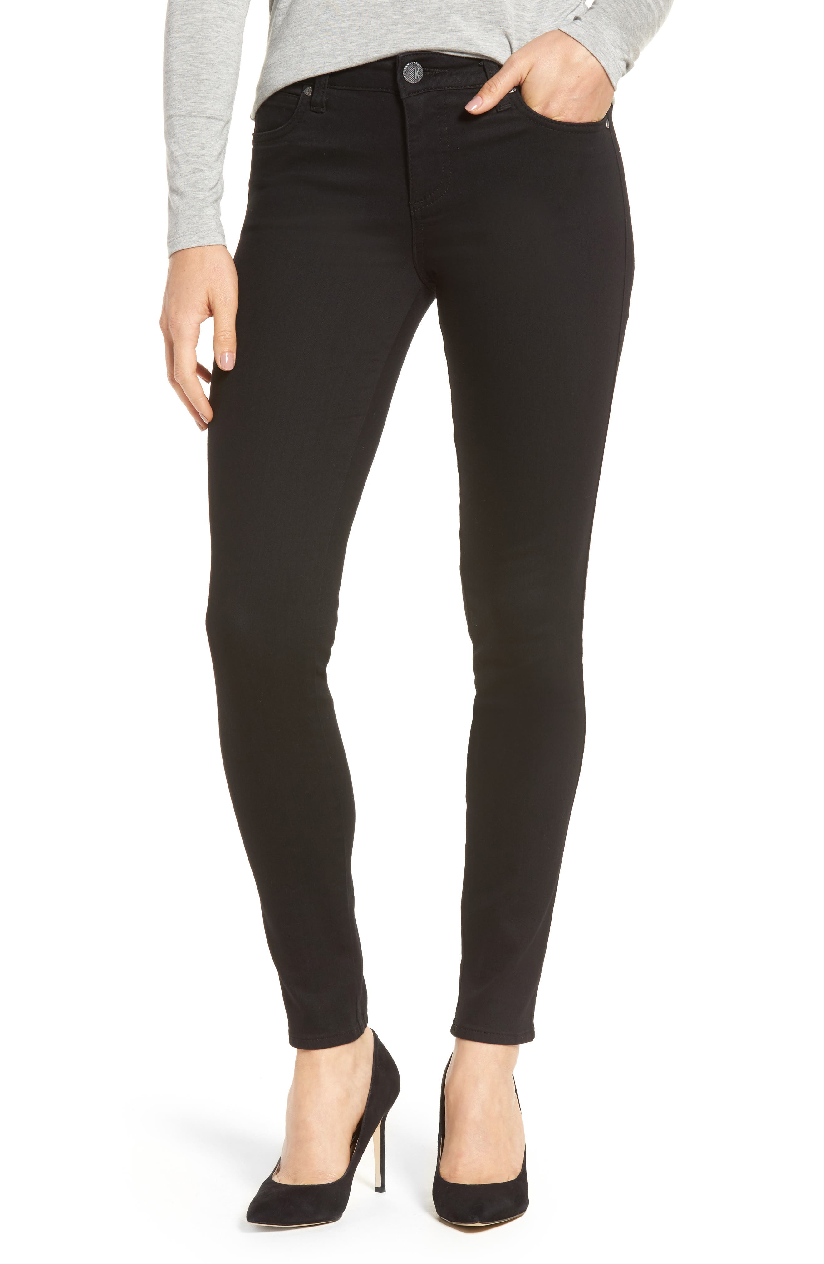 Diana Curvy Fit Skinny Jeans,                         Main,                         color, Black