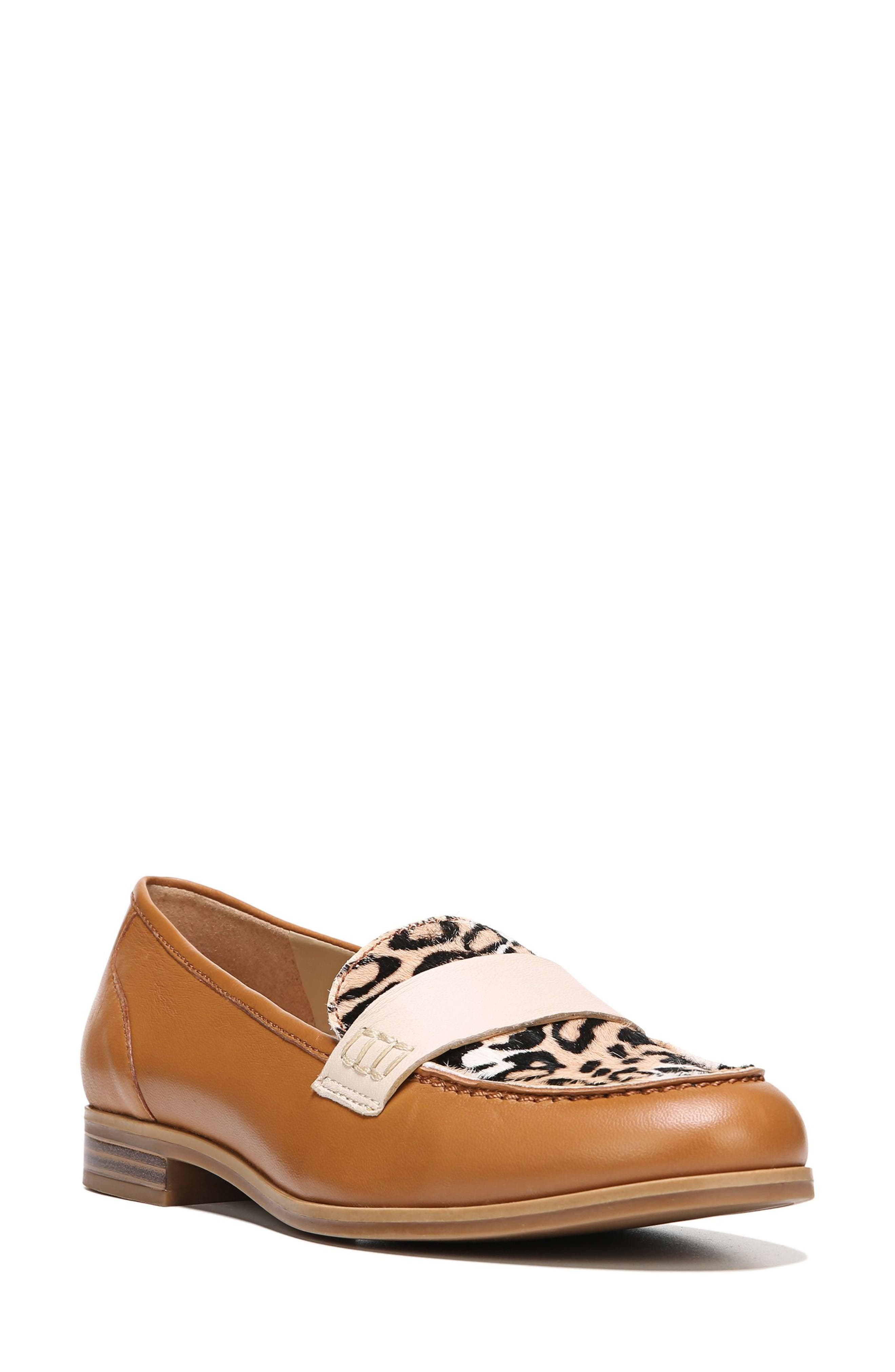 Veronica Loafer,                         Main,                         color, Cheetah Leather/ Brahma Hair