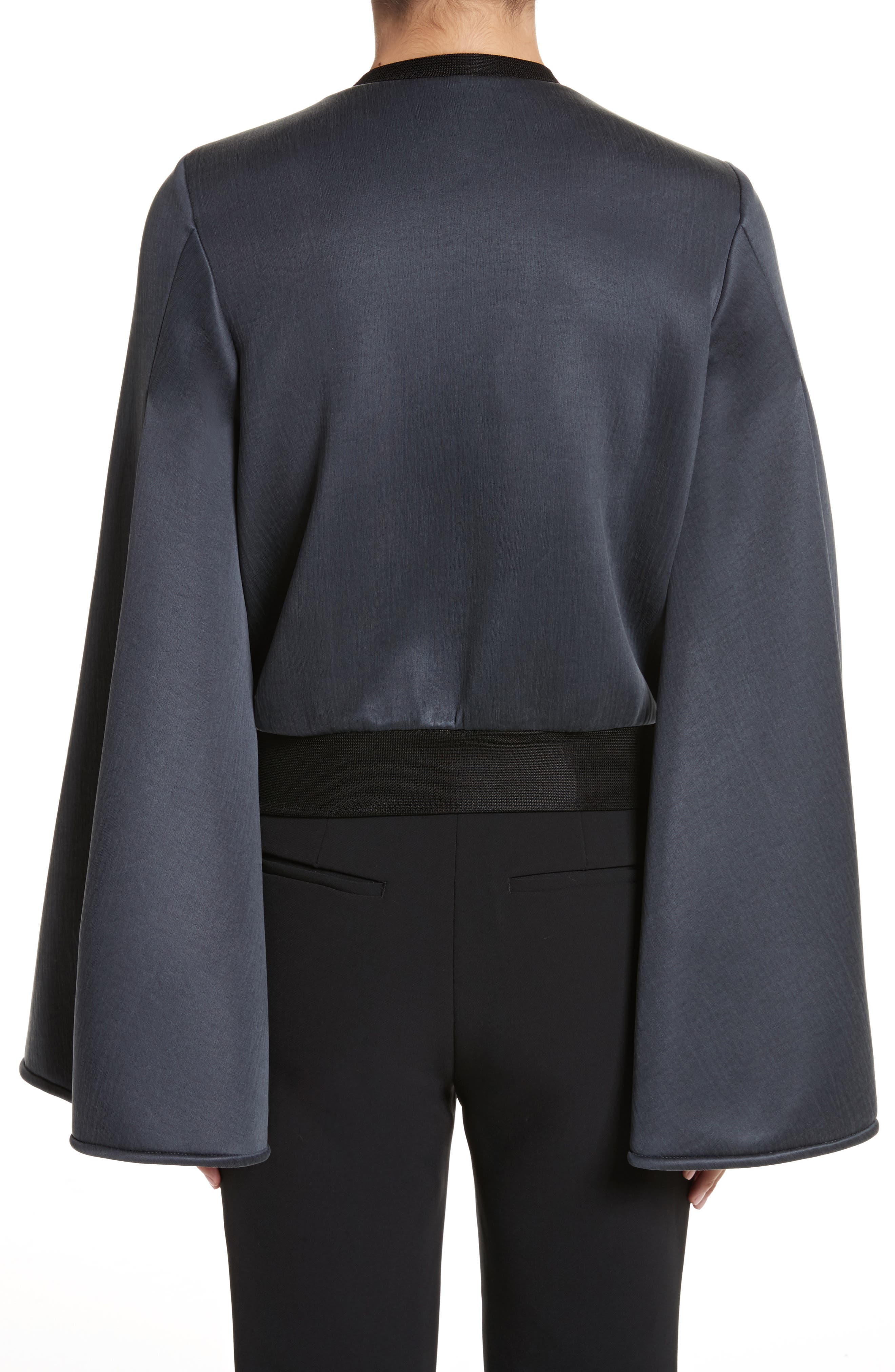 Immortal Flare Sleeve Sweater,                             Alternate thumbnail 2, color,                             Charcoal Navy
