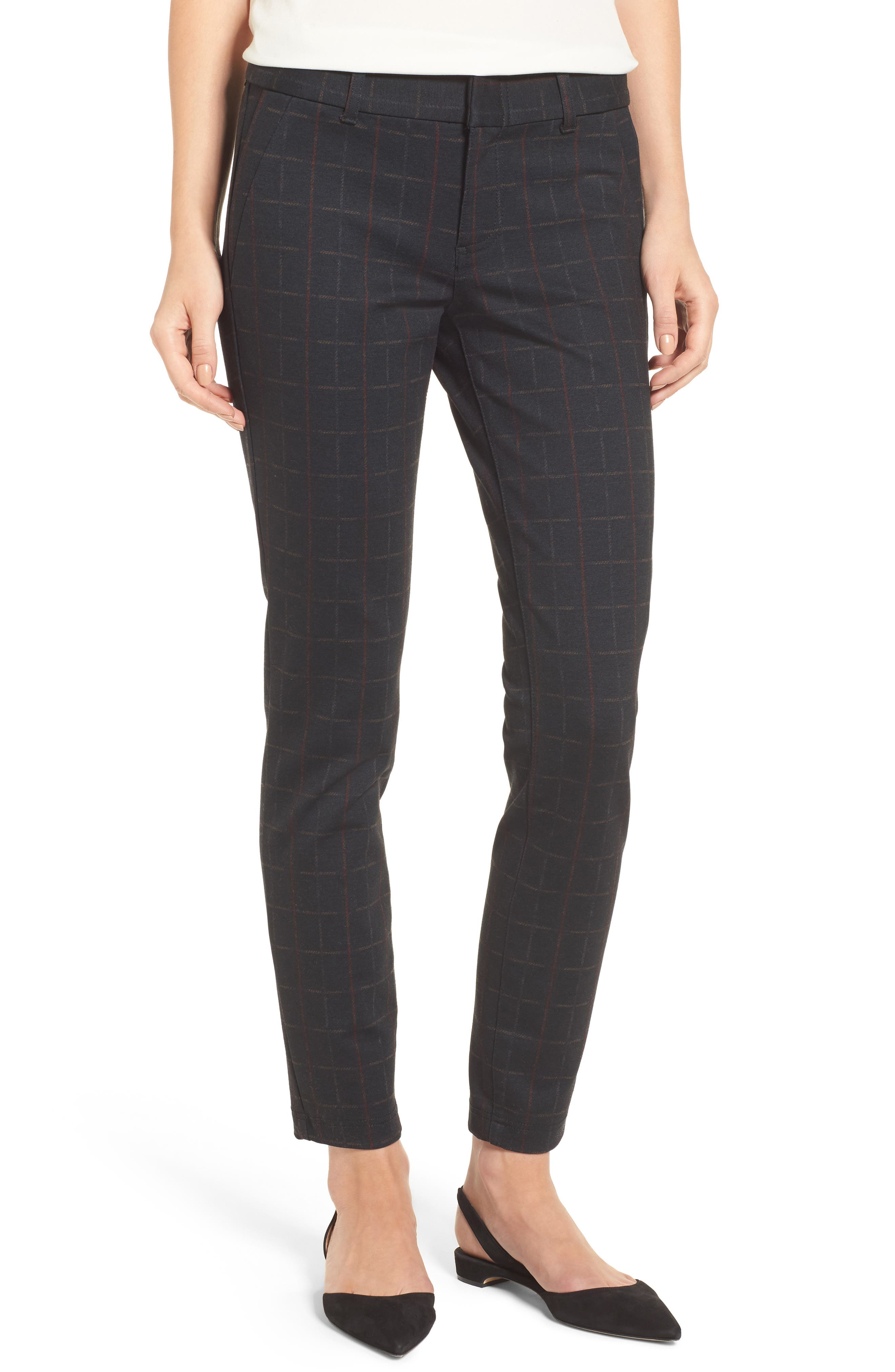 Main Image - KUT from the Kloth Mia Plaid Ankle Skinny Pants