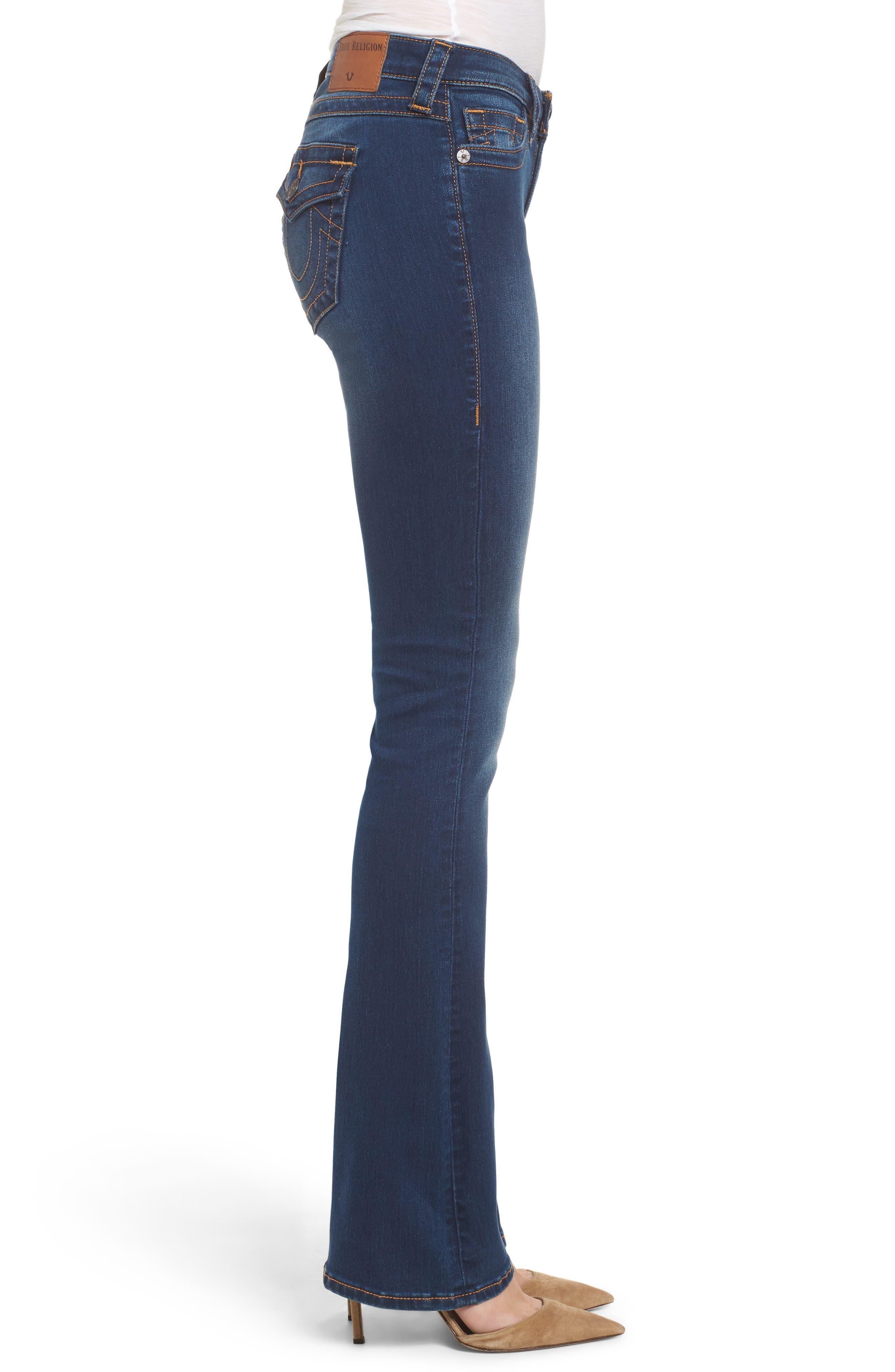 Becca Bootcut Jeans,                             Alternate thumbnail 3, color,                             Lands End Indigo