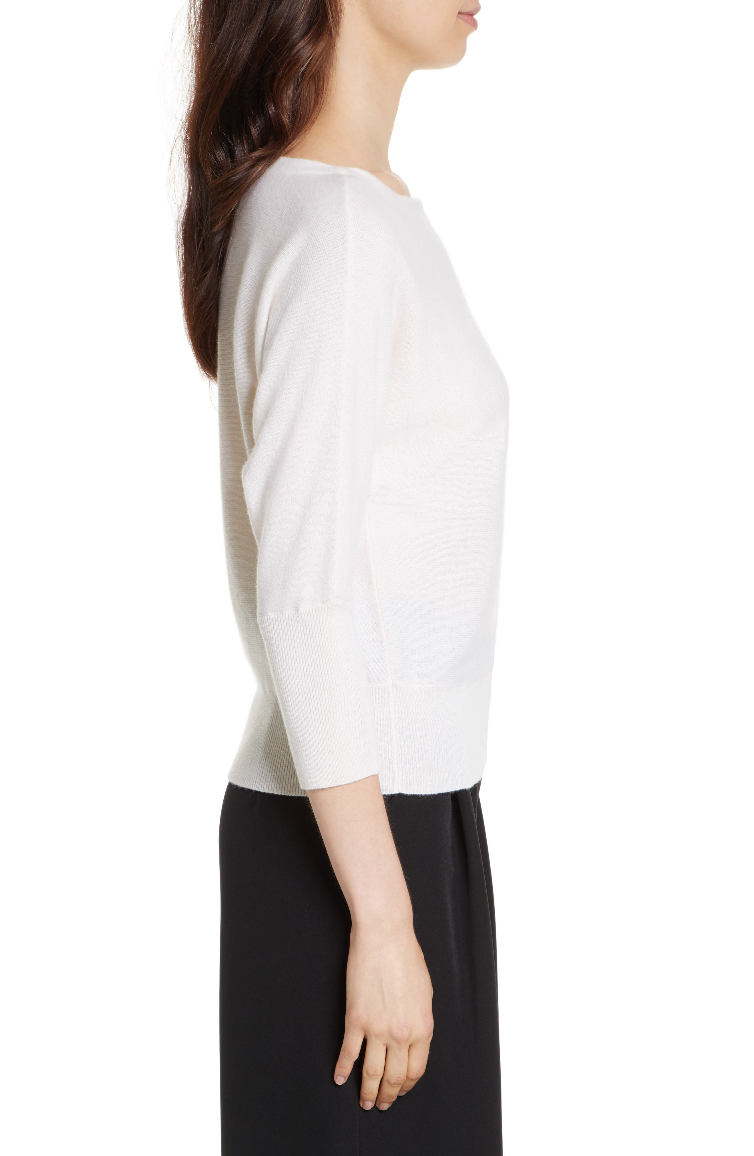Alternate Image 3  - Milly Dolman Cashmere Sweater