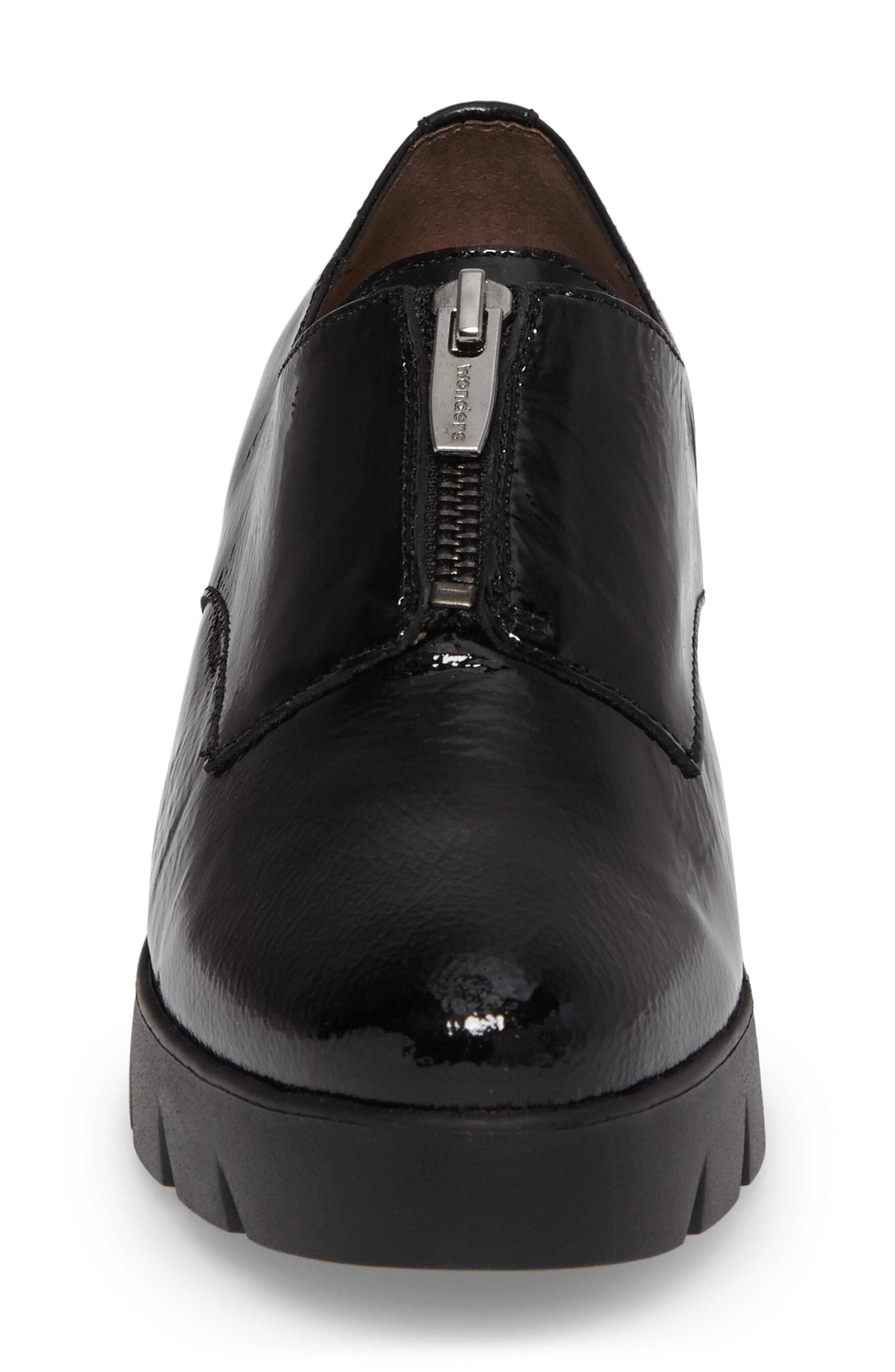 Platform Derby,                             Alternate thumbnail 4, color,                             Black Patent Leather