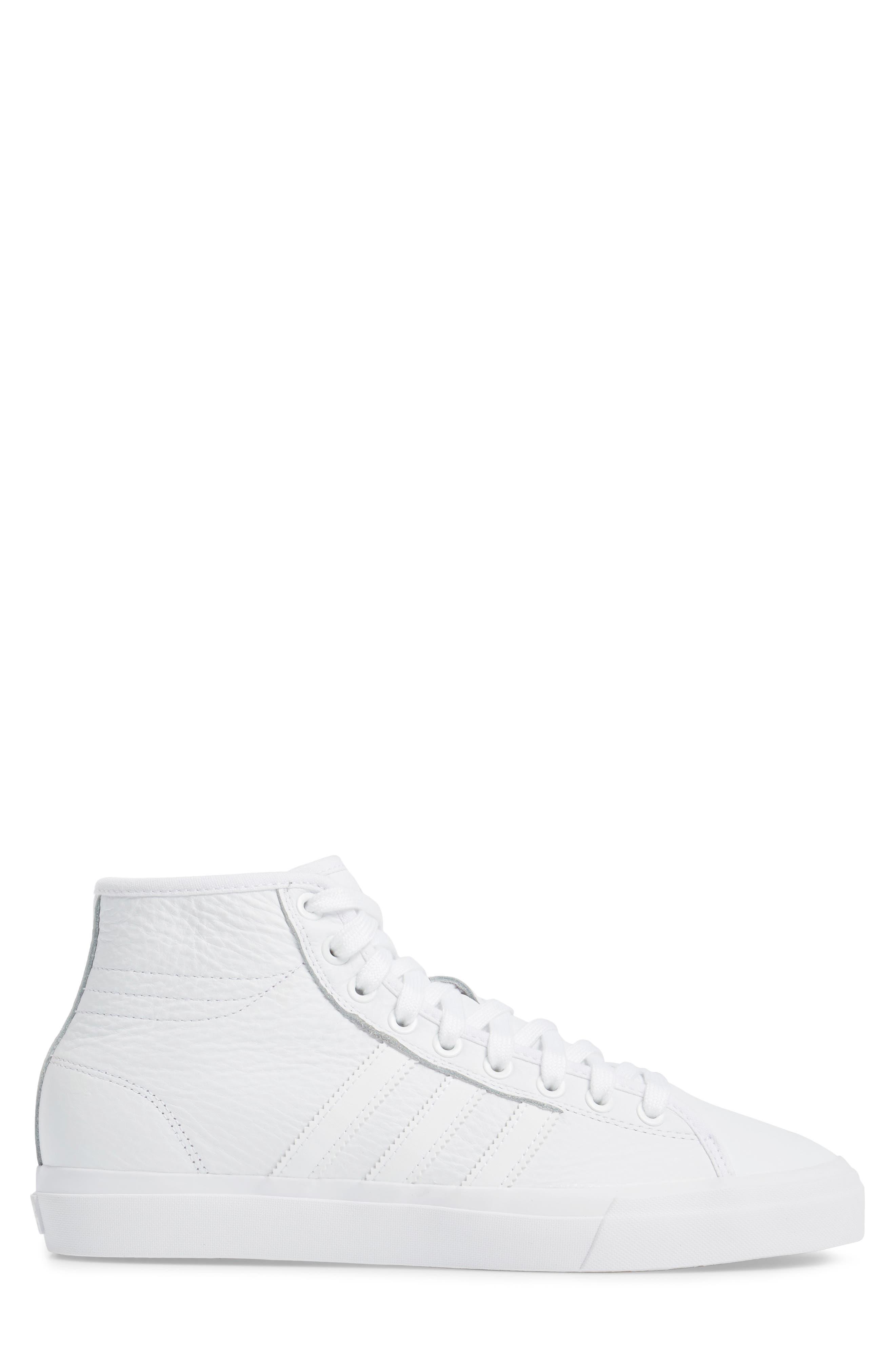 Matchcourt High Top Sneaker,                             Alternate thumbnail 3, color,                             White/ White/ White