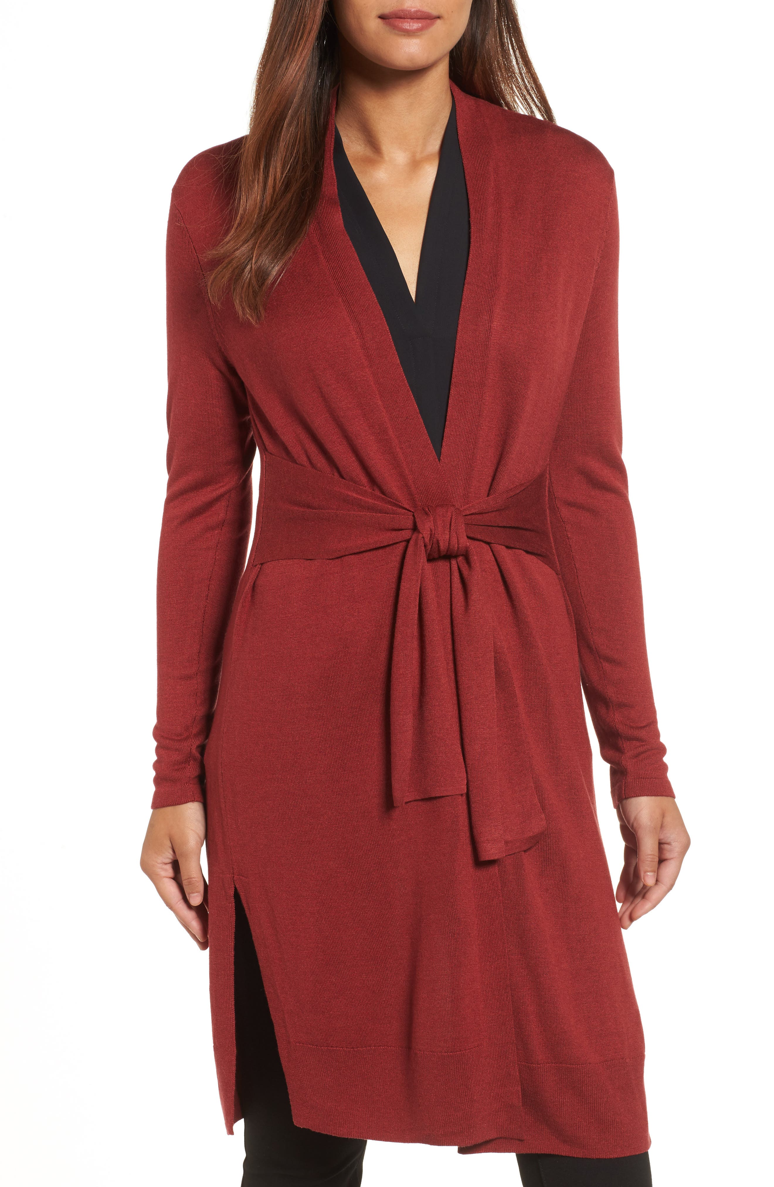 NIC+ZOE Silk Blend Trench Cardigan (Regular & Petite)