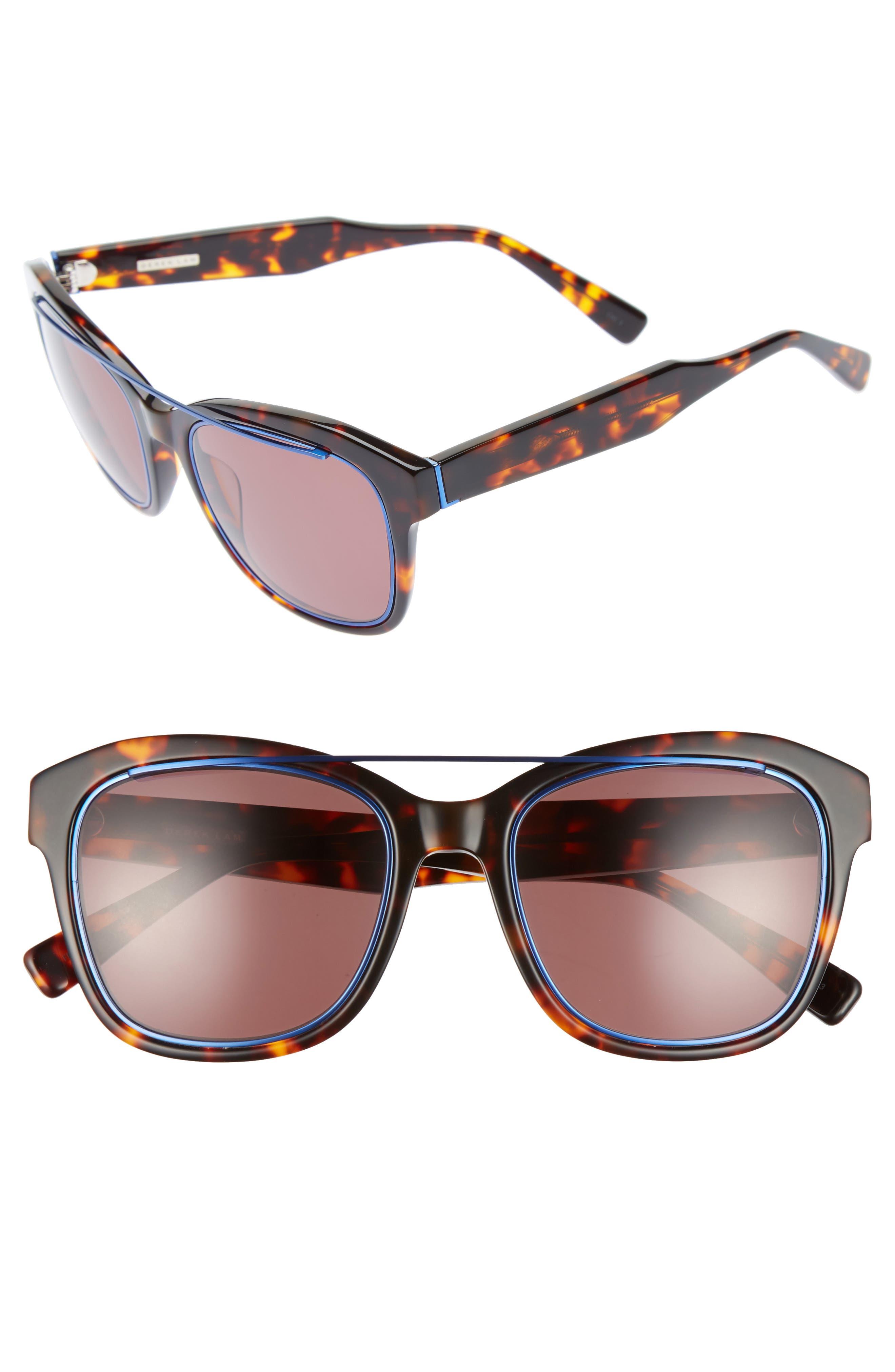 Hudson 52mm Gradient Sunglasses,                         Main,                         color, Havana Tortoise