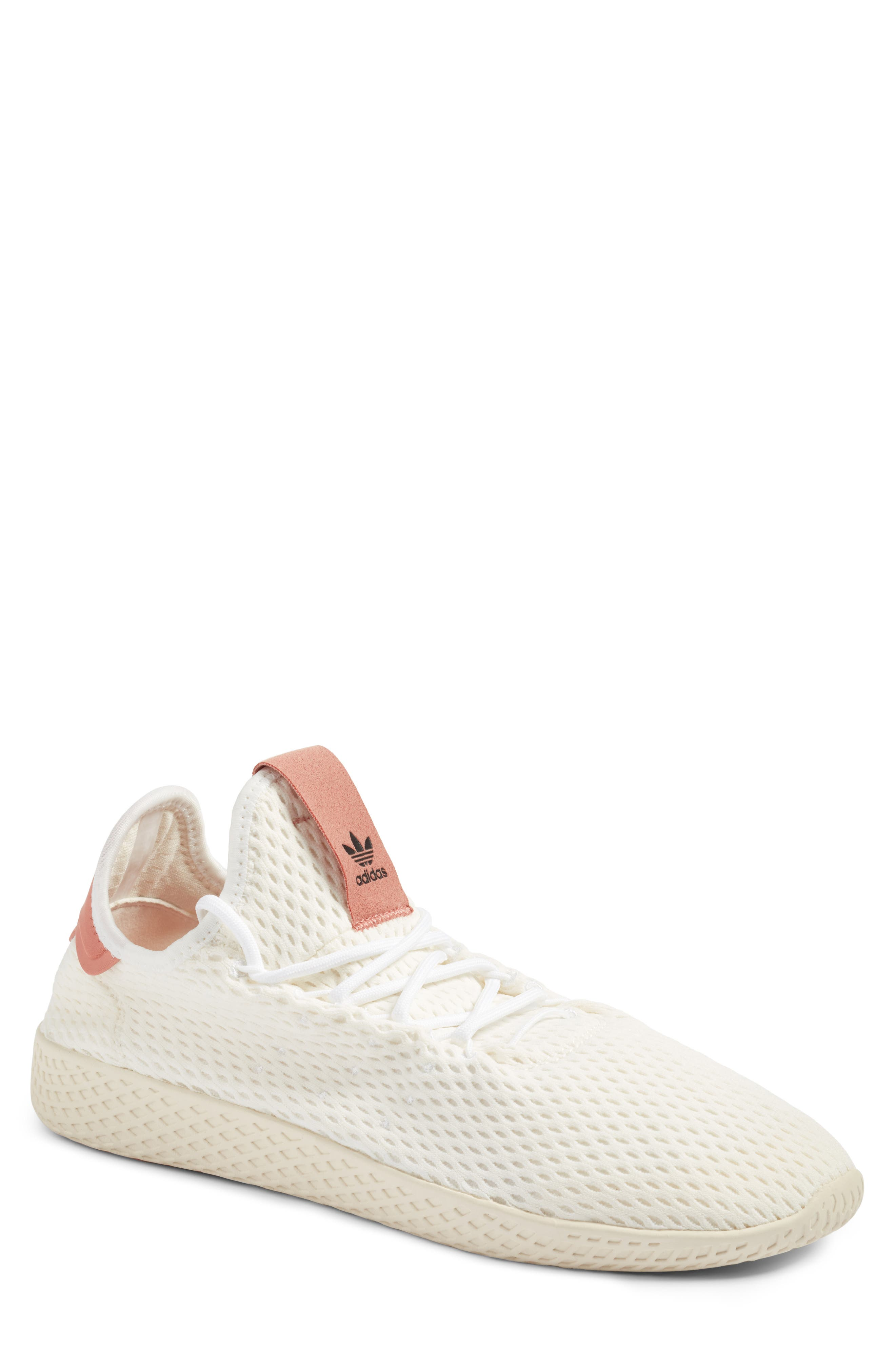 Pharrell Williams Tennis Hu Sneaker,                         Main,                         color, White/ Pink