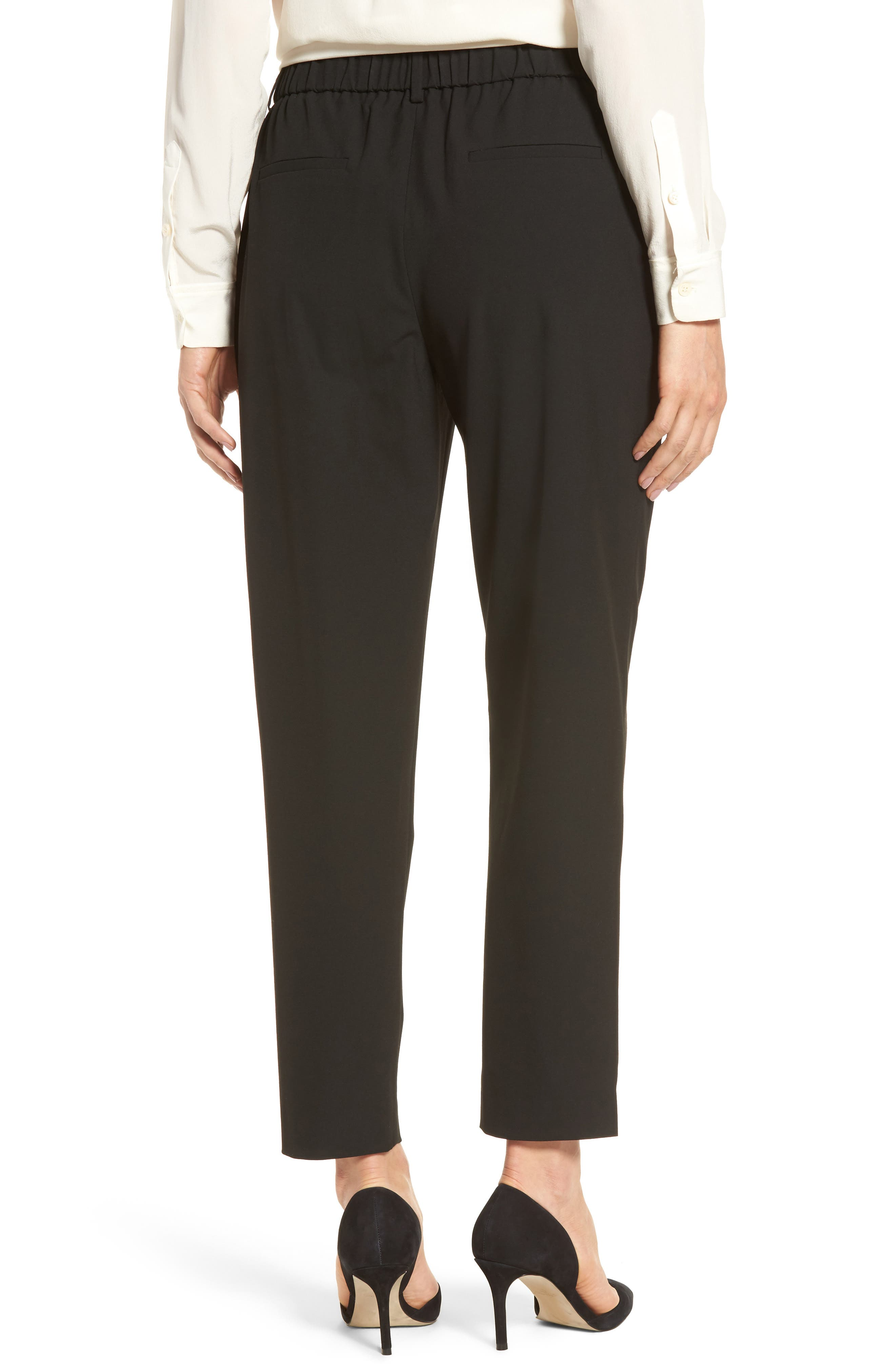 Relaxed Ankle Pants,                             Alternate thumbnail 2, color,                             Black
