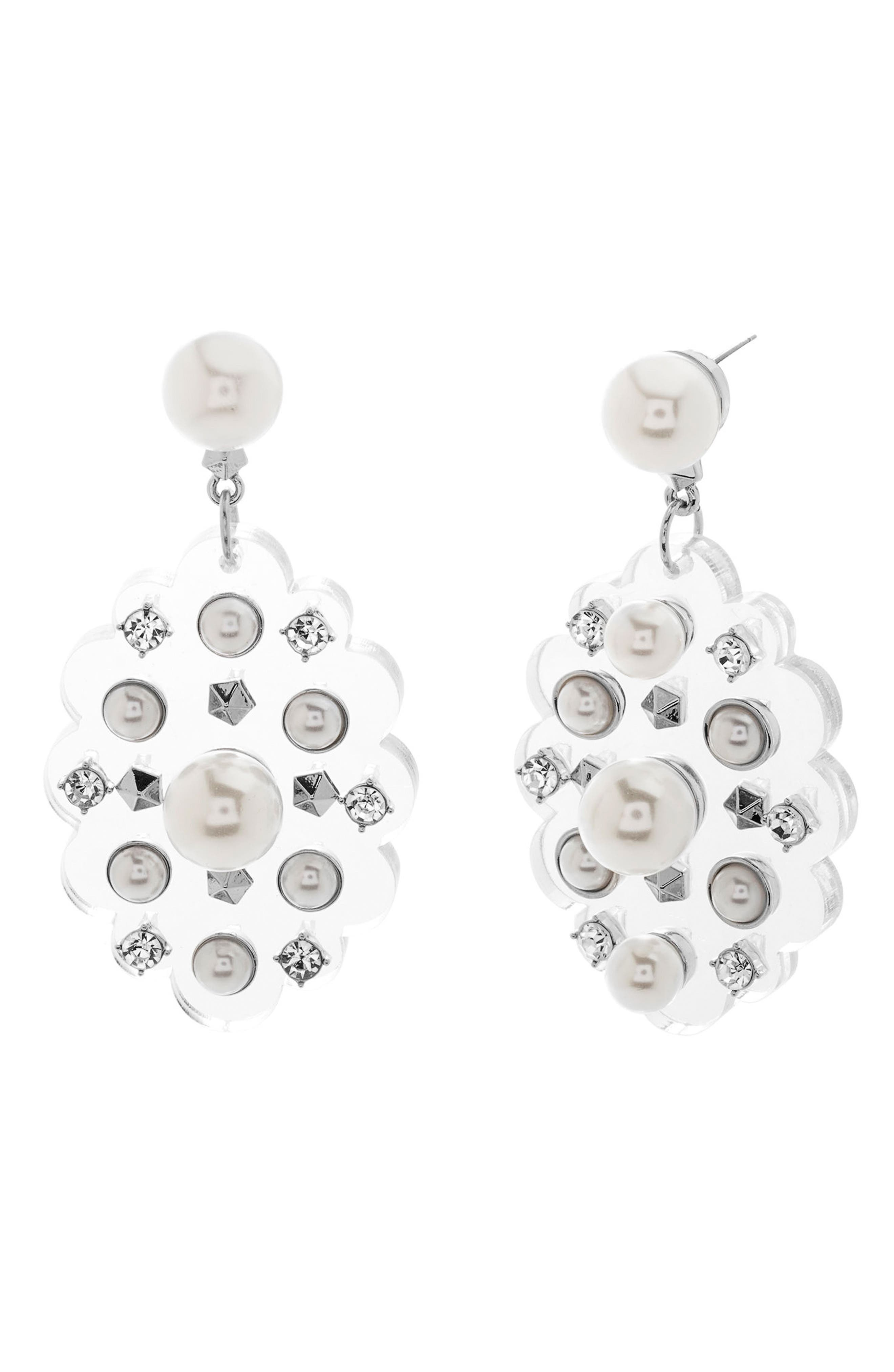 Alternate Image 1 Selected - Steve Madden Crystal Drop Earrings