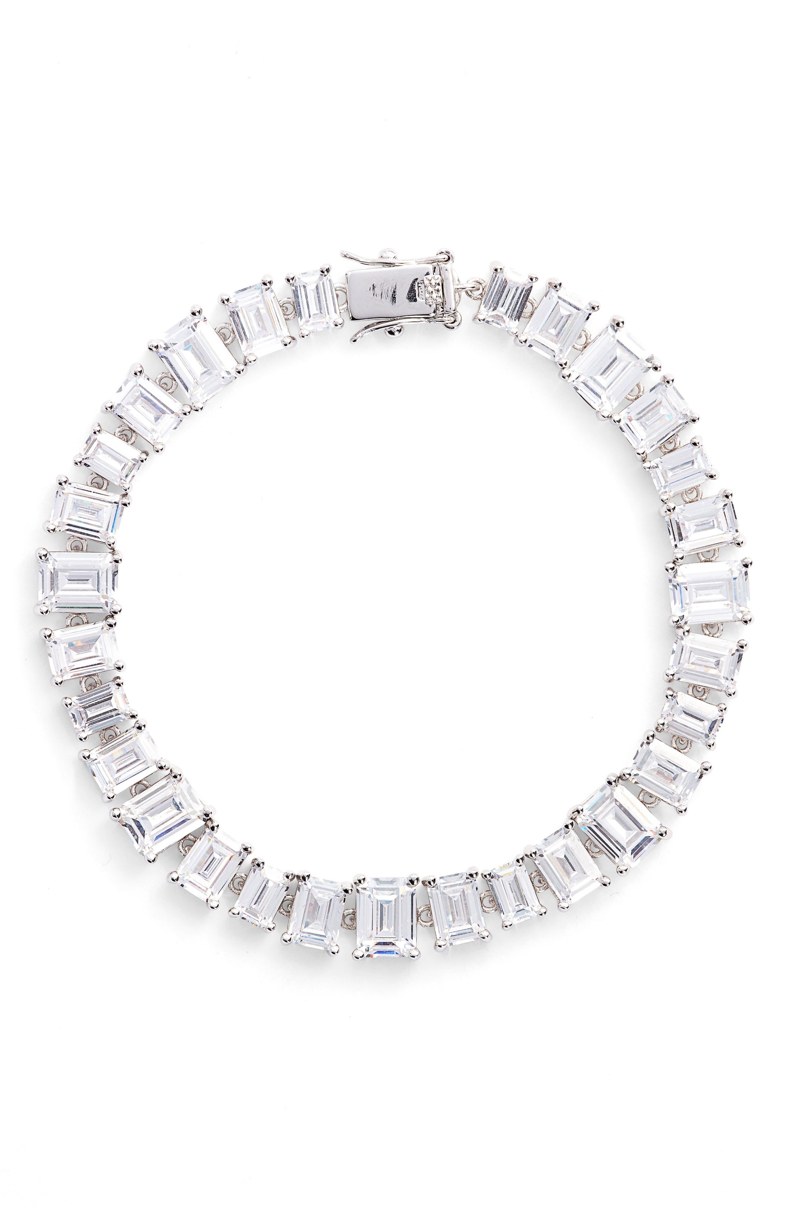 Alternate Image 1 Selected - CZ by Kenneth Jay Lane Cubic Zirconia Tennis Bracelet
