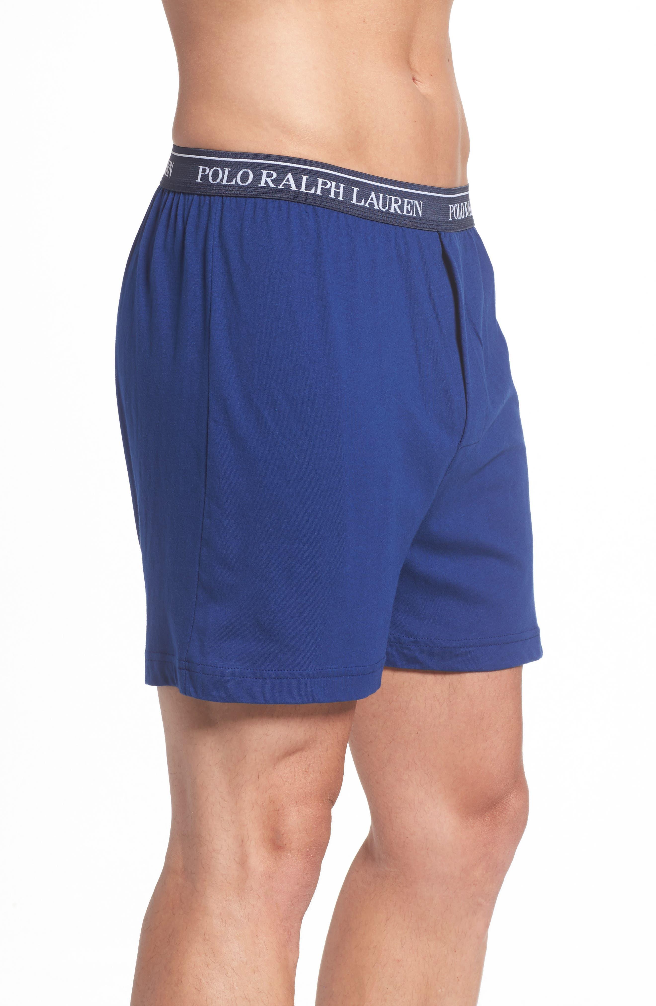 3-Pack Cotton Boxers,                             Alternate thumbnail 4, color,                             Club Royal Blue