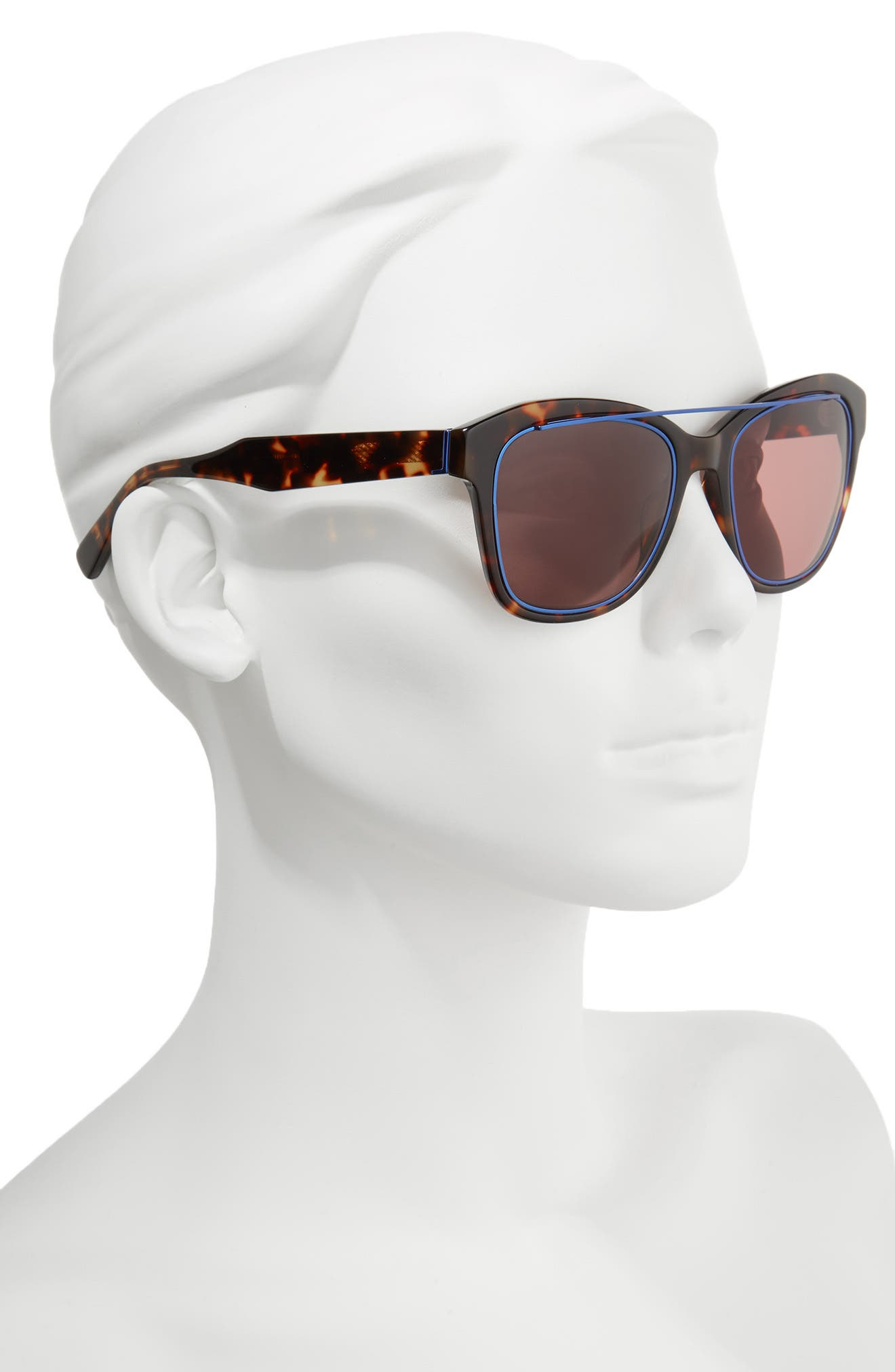 Hudson 52mm Gradient Sunglasses,                             Alternate thumbnail 2, color,                             Havana Tortoise