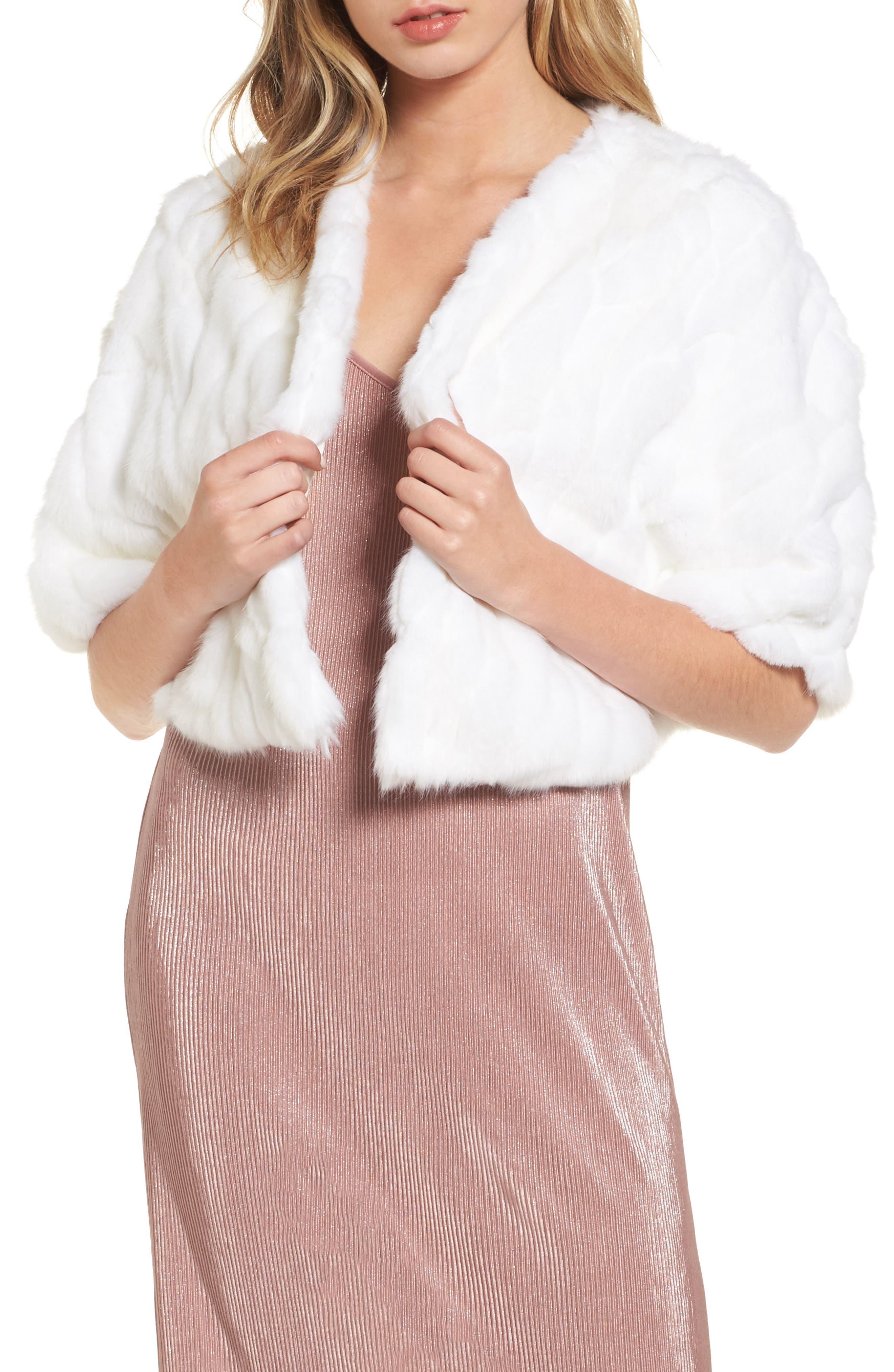 Alternate Image 1 Selected - Nordstrom Faux Fur Capelet