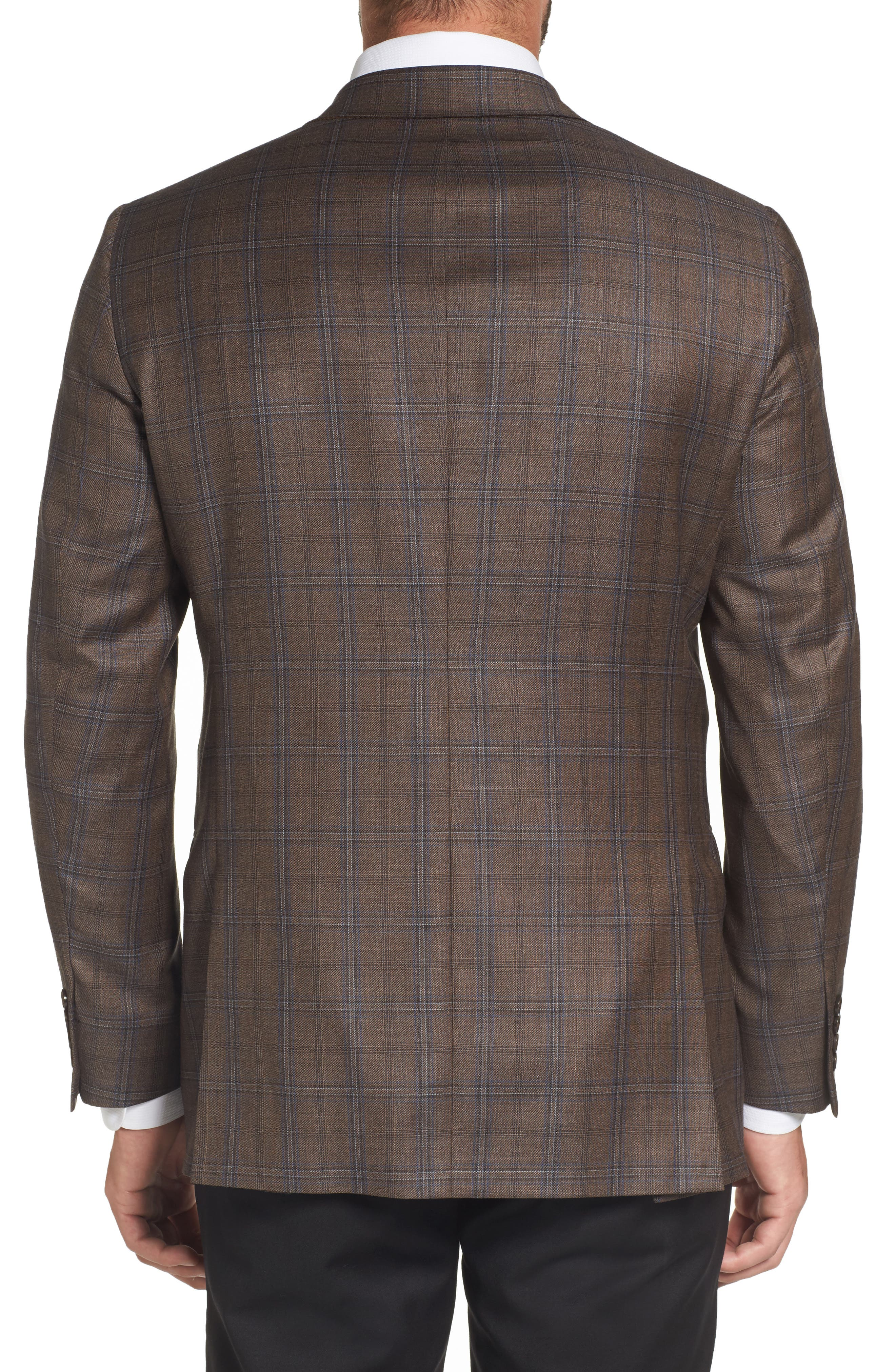 Classic Fit Plaid Wool Sport Coat,                             Alternate thumbnail 2, color,                             Medium Brown