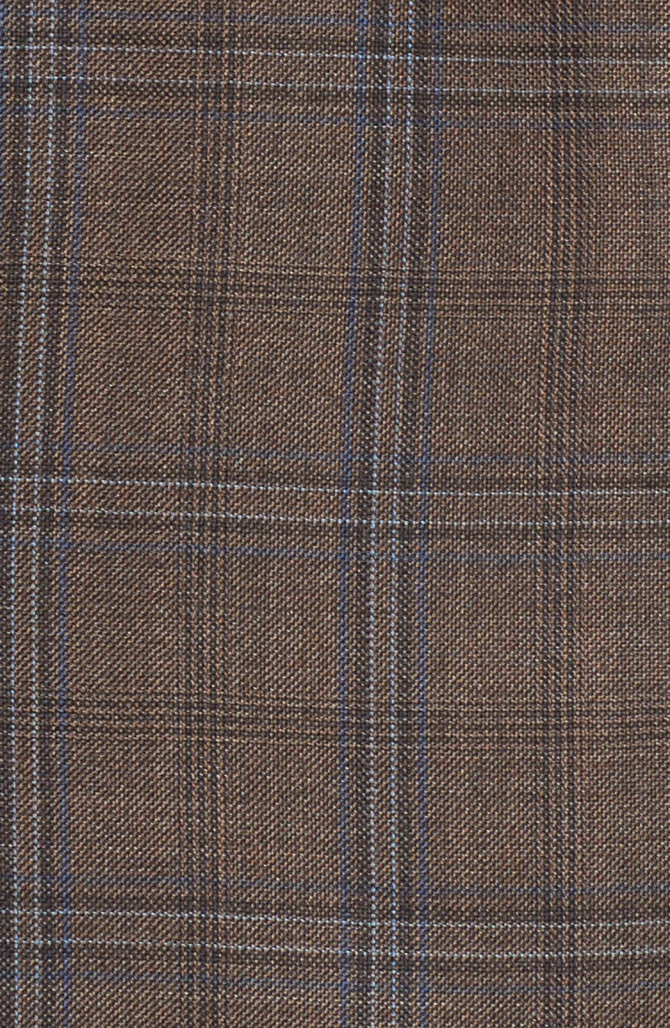 Classic Fit Plaid Wool Sport Coat,                             Alternate thumbnail 5, color,                             Medium Brown