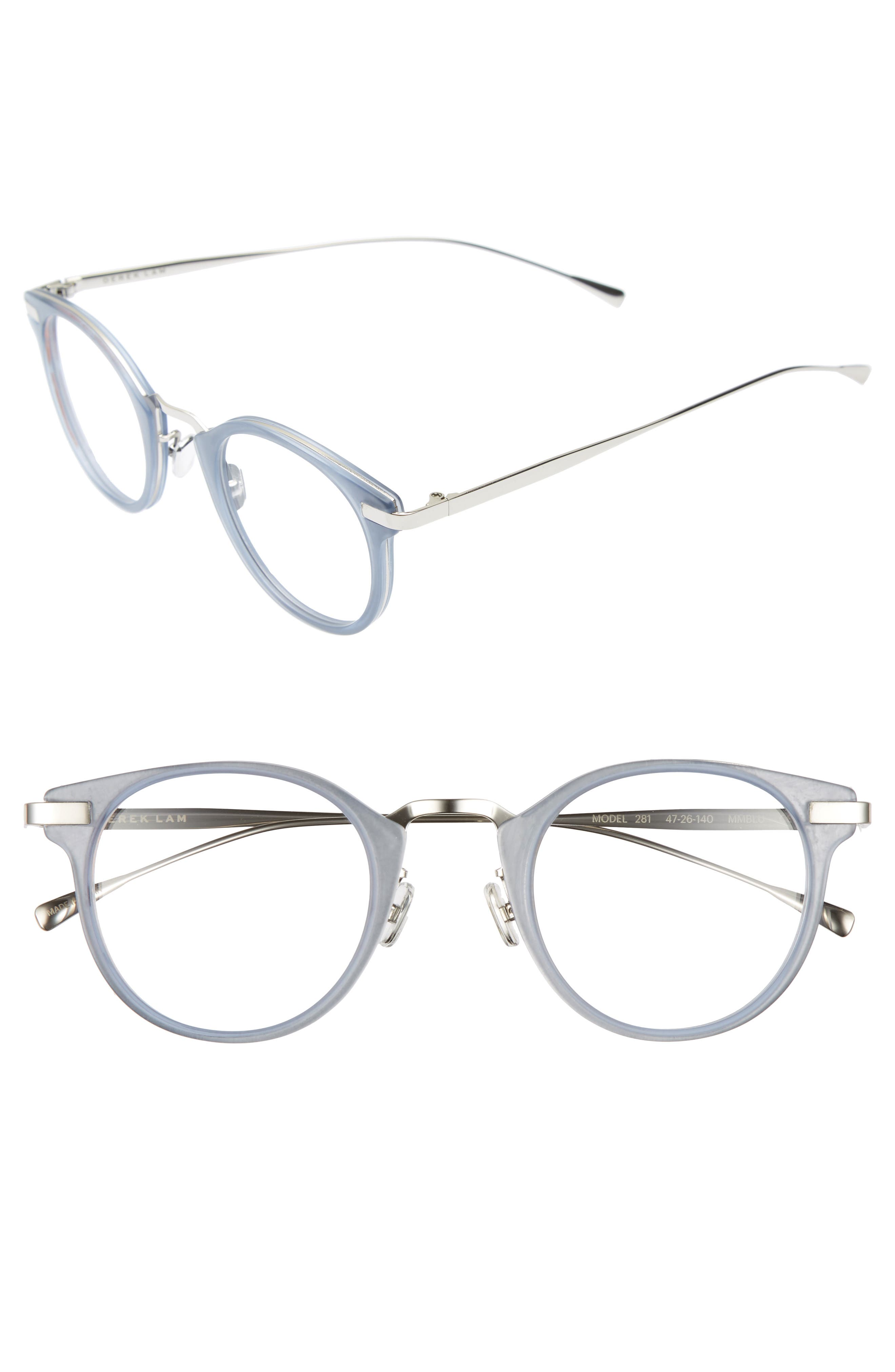 47mm Optical Glasses,                         Main,                         color, Matte Misty Blue
