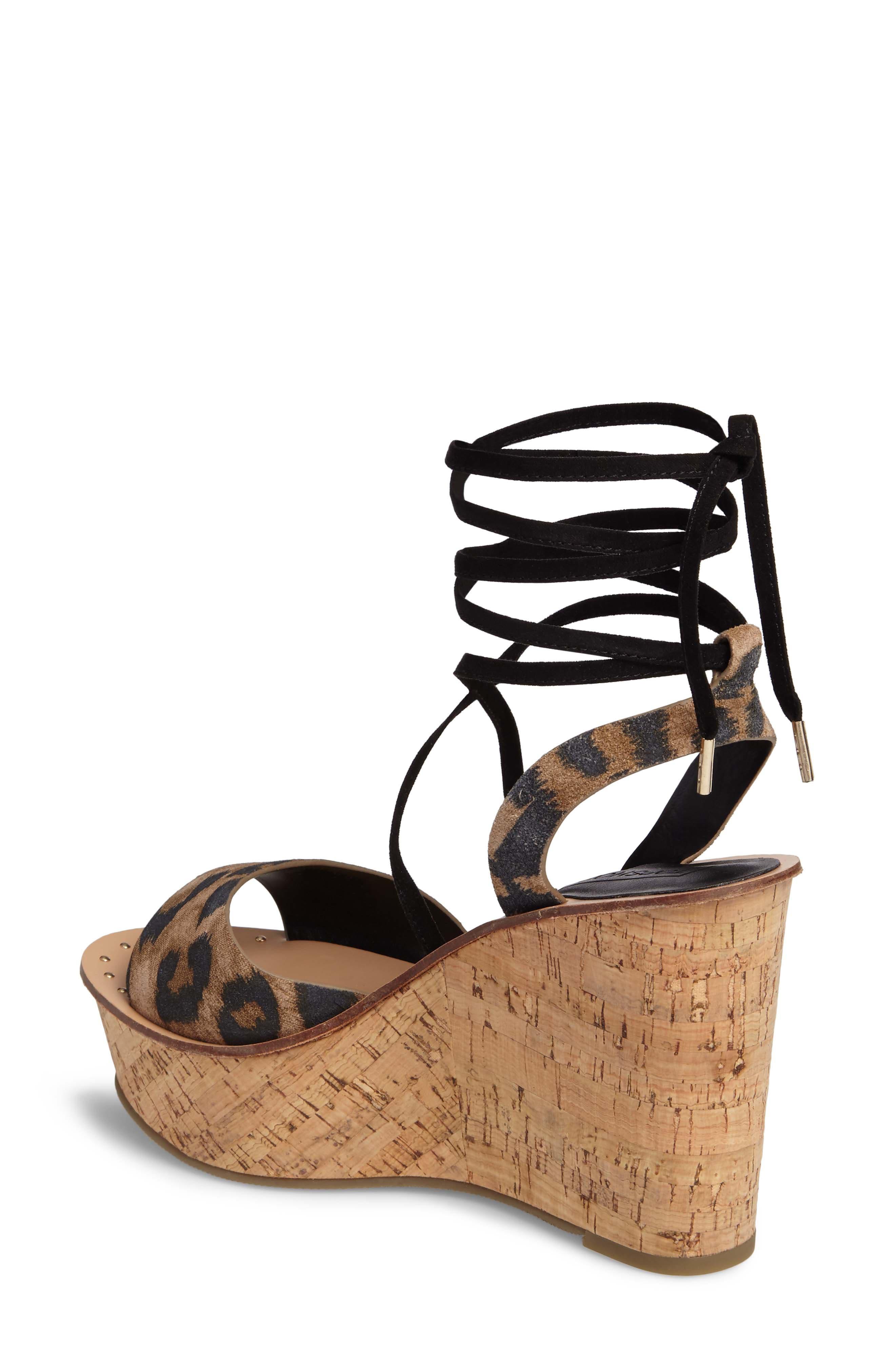 Platform Wedge Sandal,                             Alternate thumbnail 2, color,                             Leopard