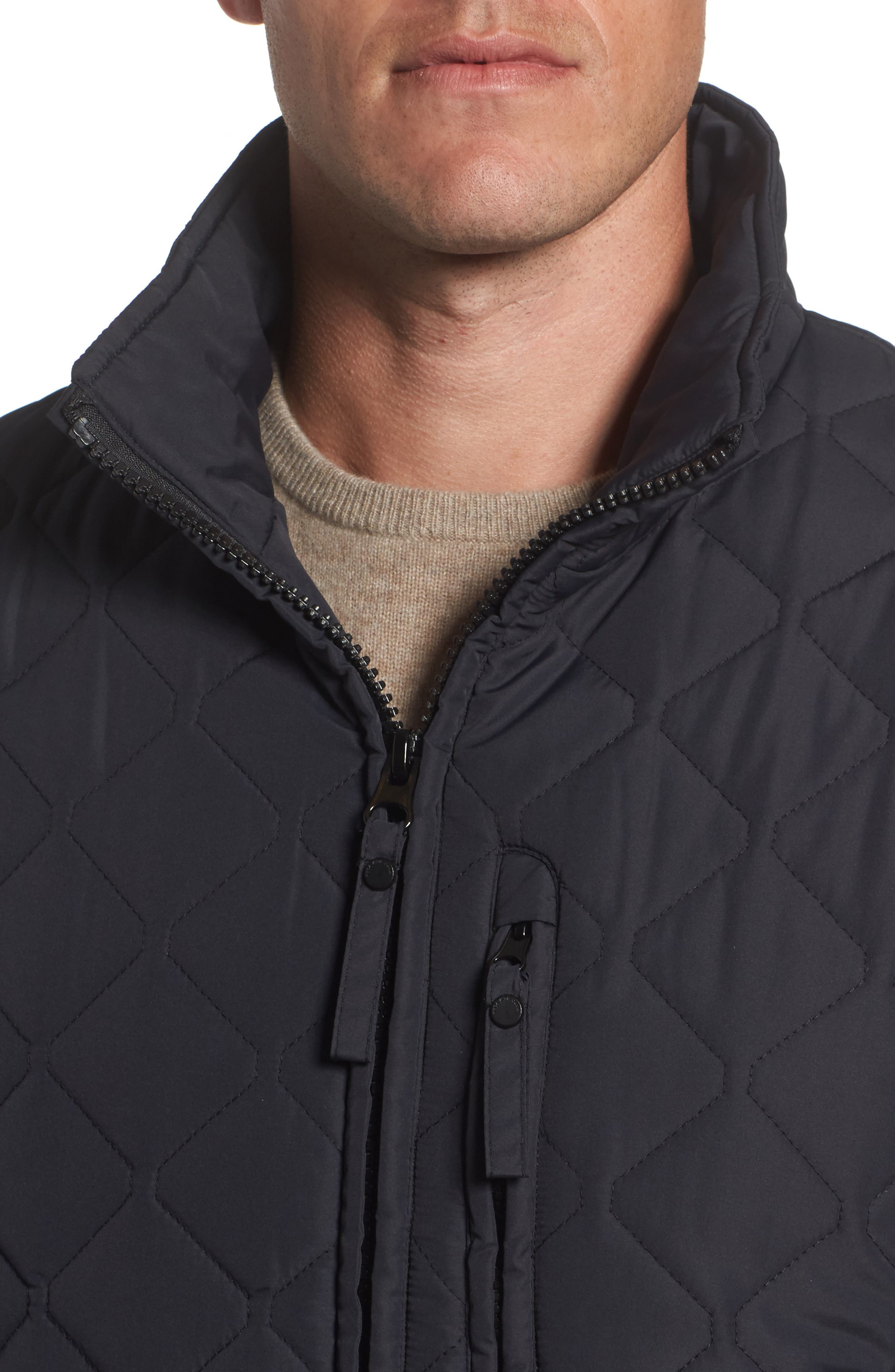 Alternate Image 4  - Marc New York Faux Shearling Lined Quilted Jacket