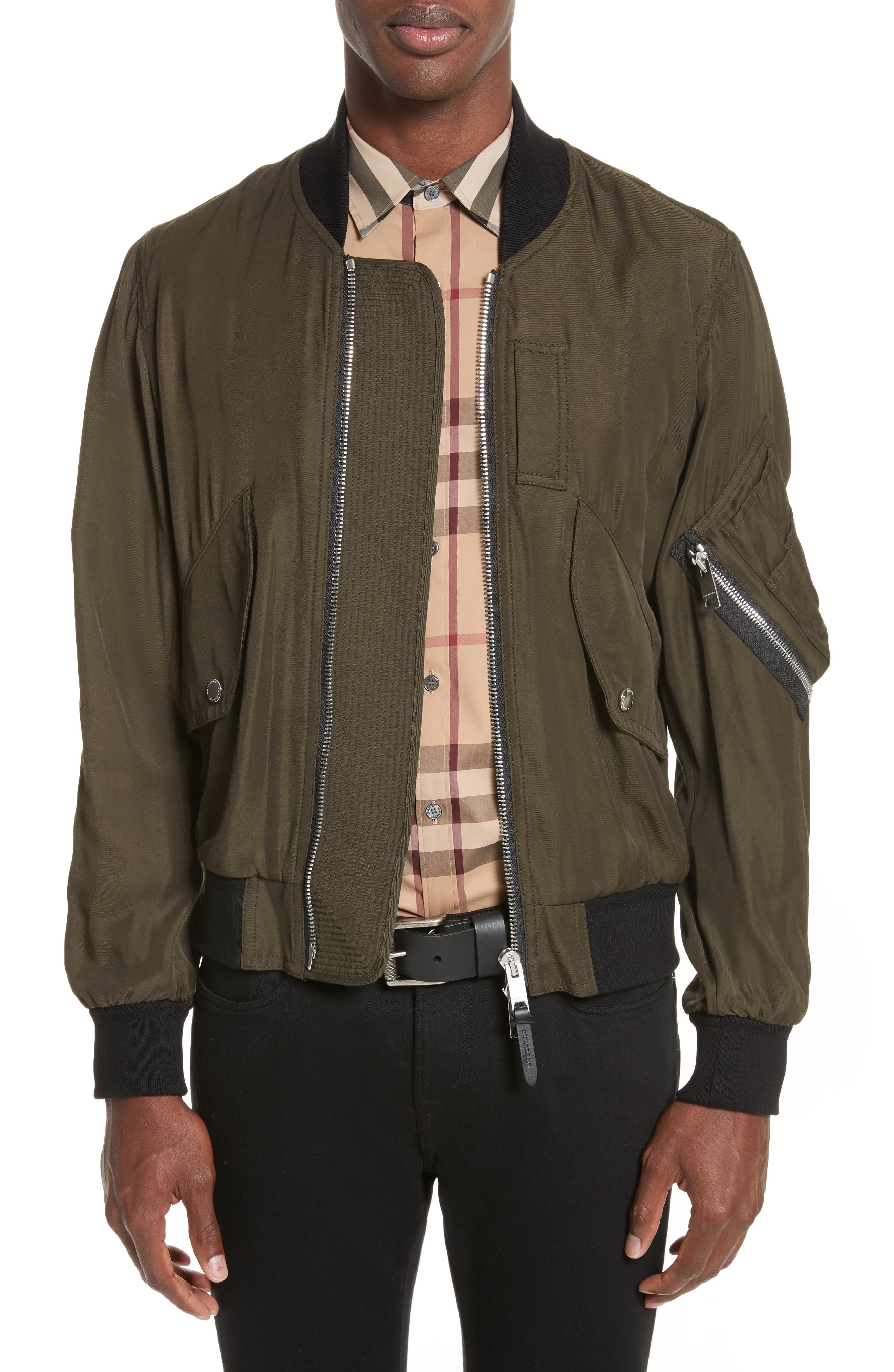 Main Image - Burberry Archer Classic Fit Bomber Jacket
