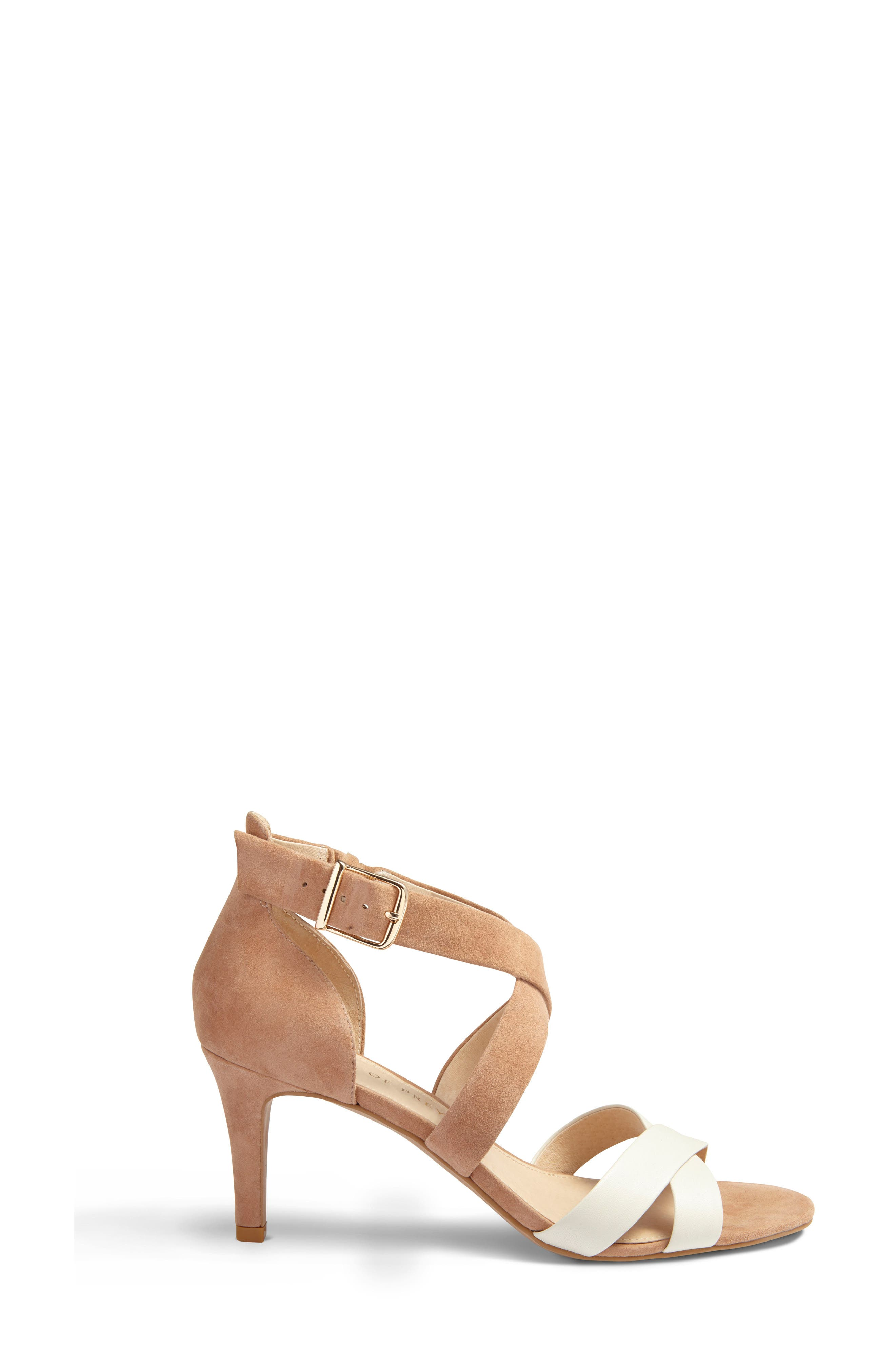 Crisscross Strappy Sandal,                             Alternate thumbnail 2, color,                             Tan Suede
