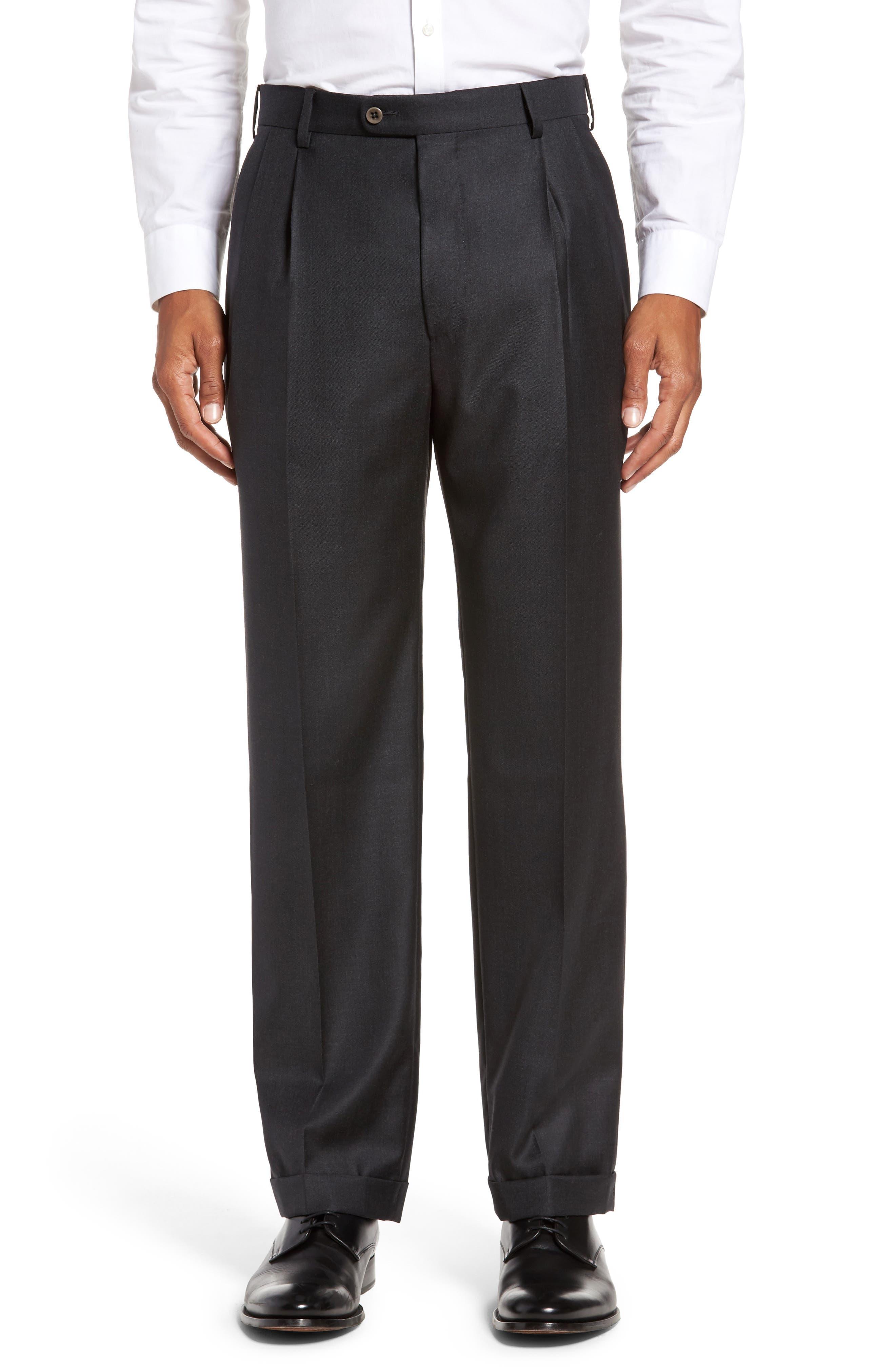 Zanella Bennett Regular Fit Pleated Trousers (Big)
