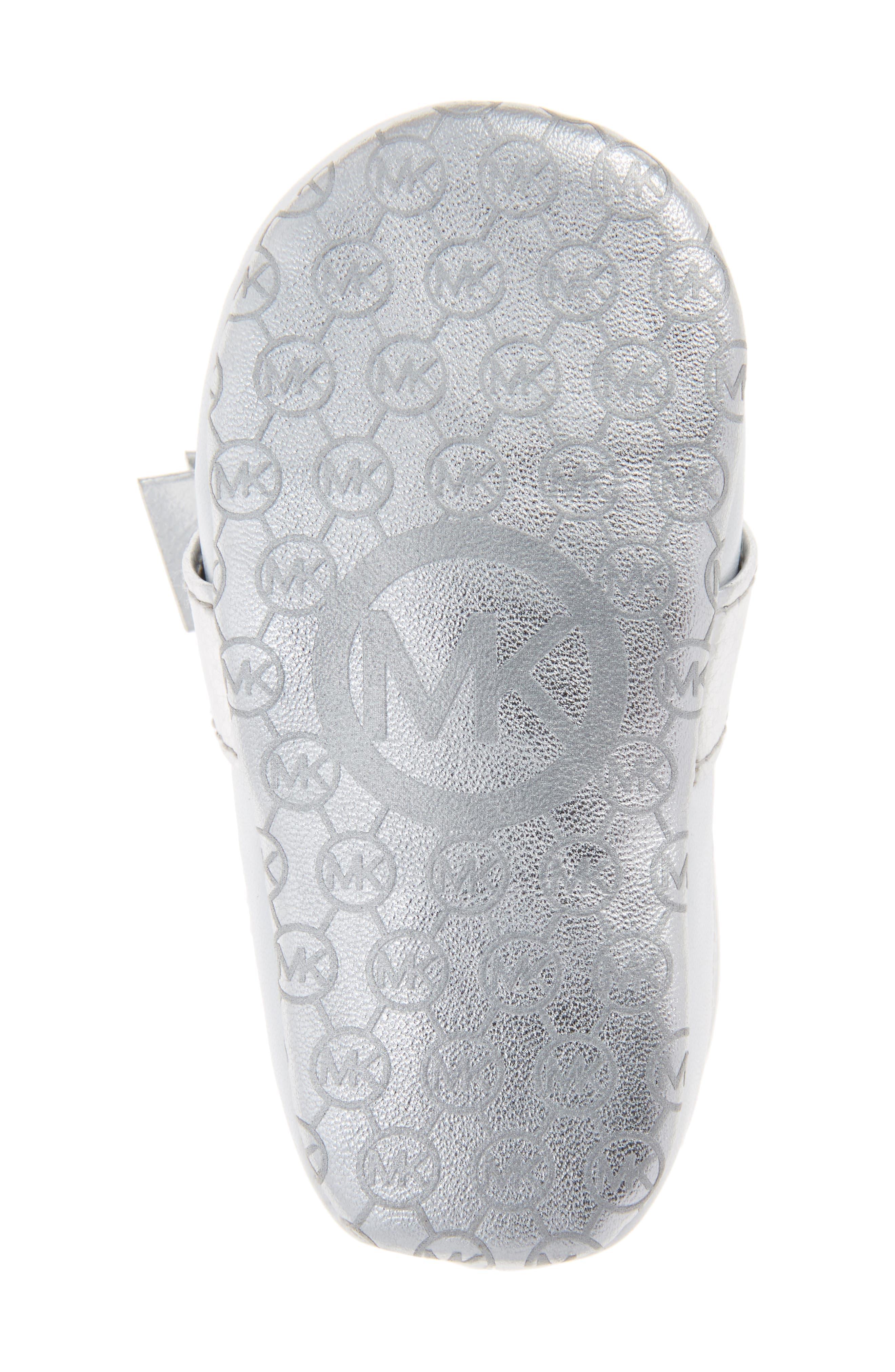 Alternate Image 6  - MICHAEL Michael Kors Baby Poppy Slip-On Crib Shoe (Baby)