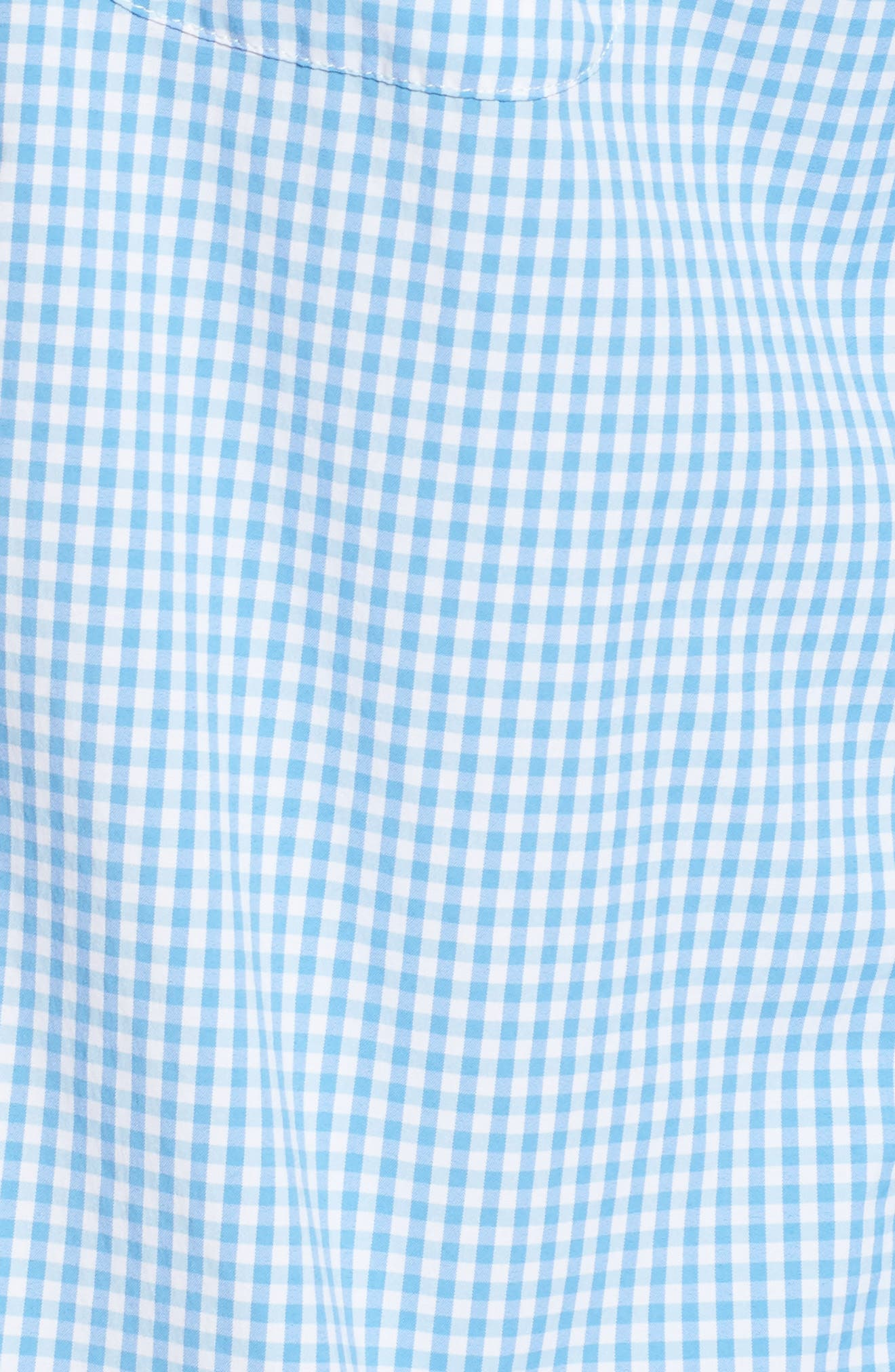 Seawater Gingham Performance Sport Shirt,                             Alternate thumbnail 5, color,                             Hull Blue