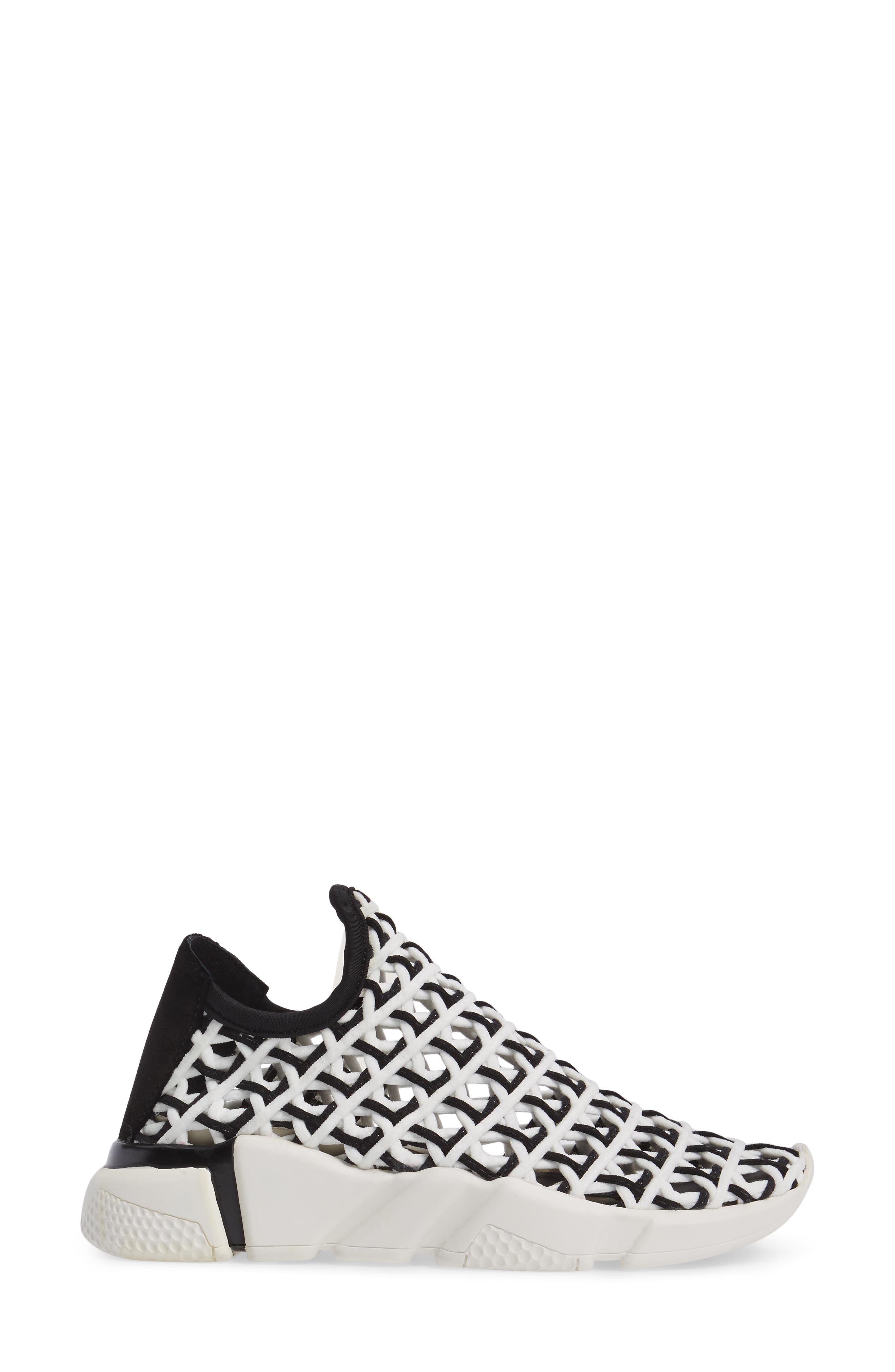 Slip-On Sneaker,                             Alternate thumbnail 3, color,                             White Black White