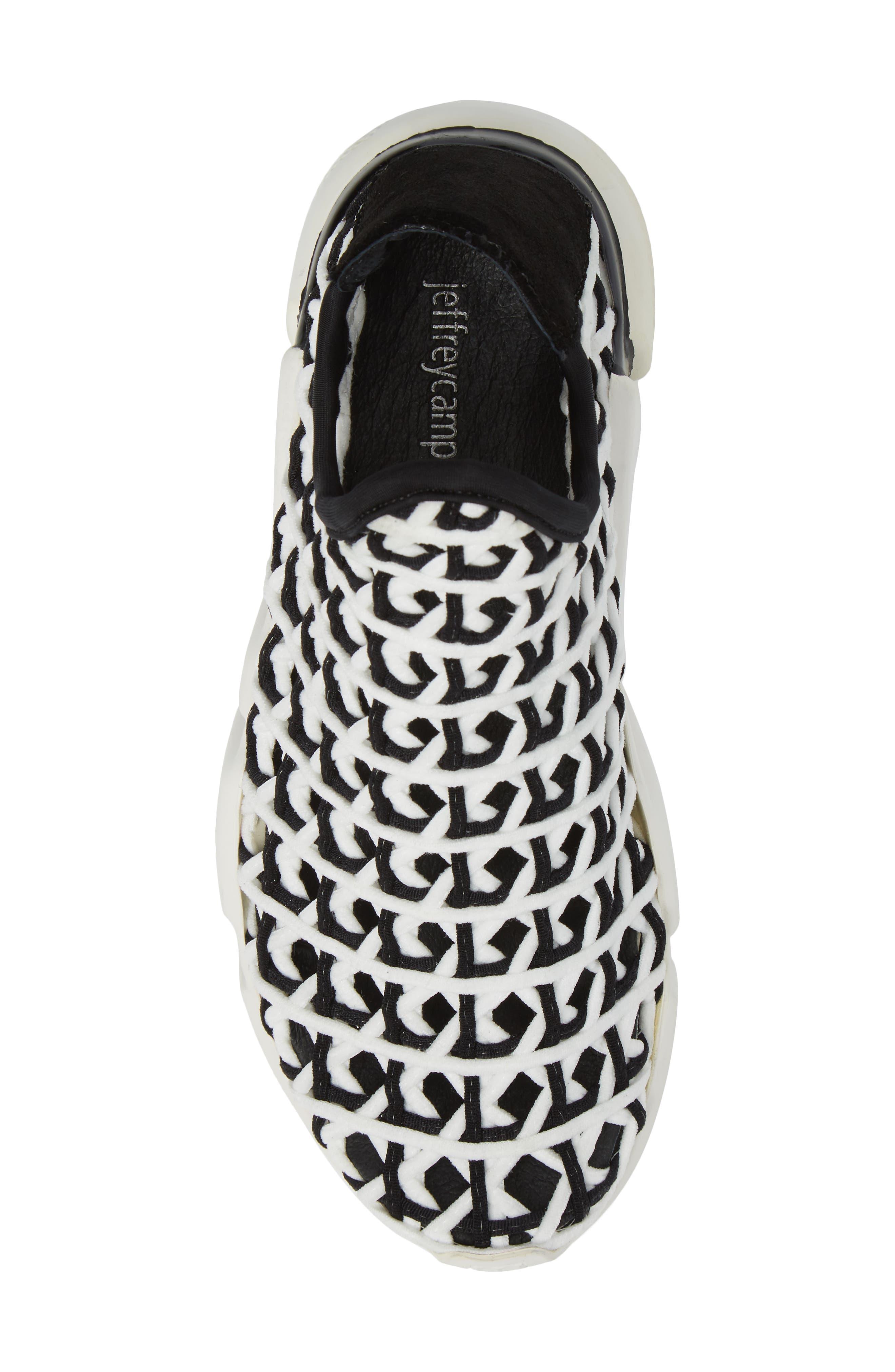 Slip-On Sneaker,                             Alternate thumbnail 5, color,                             White Black White