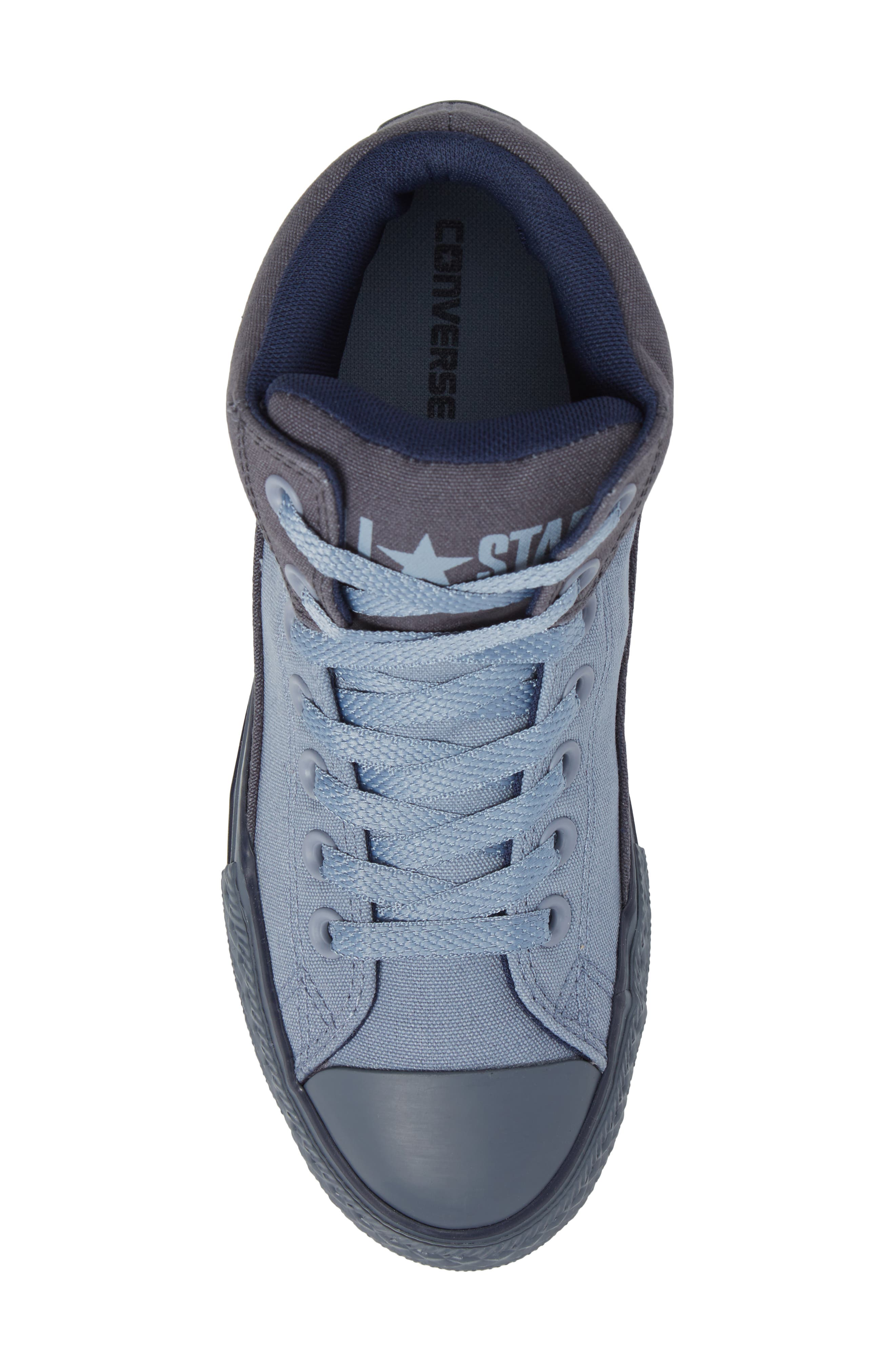 Chuck Taylor<sup>®</sup> All Star<sup>®</sup> High Street High Top Sneaker,                             Alternate thumbnail 5, color,                             Sharkskin Canvas