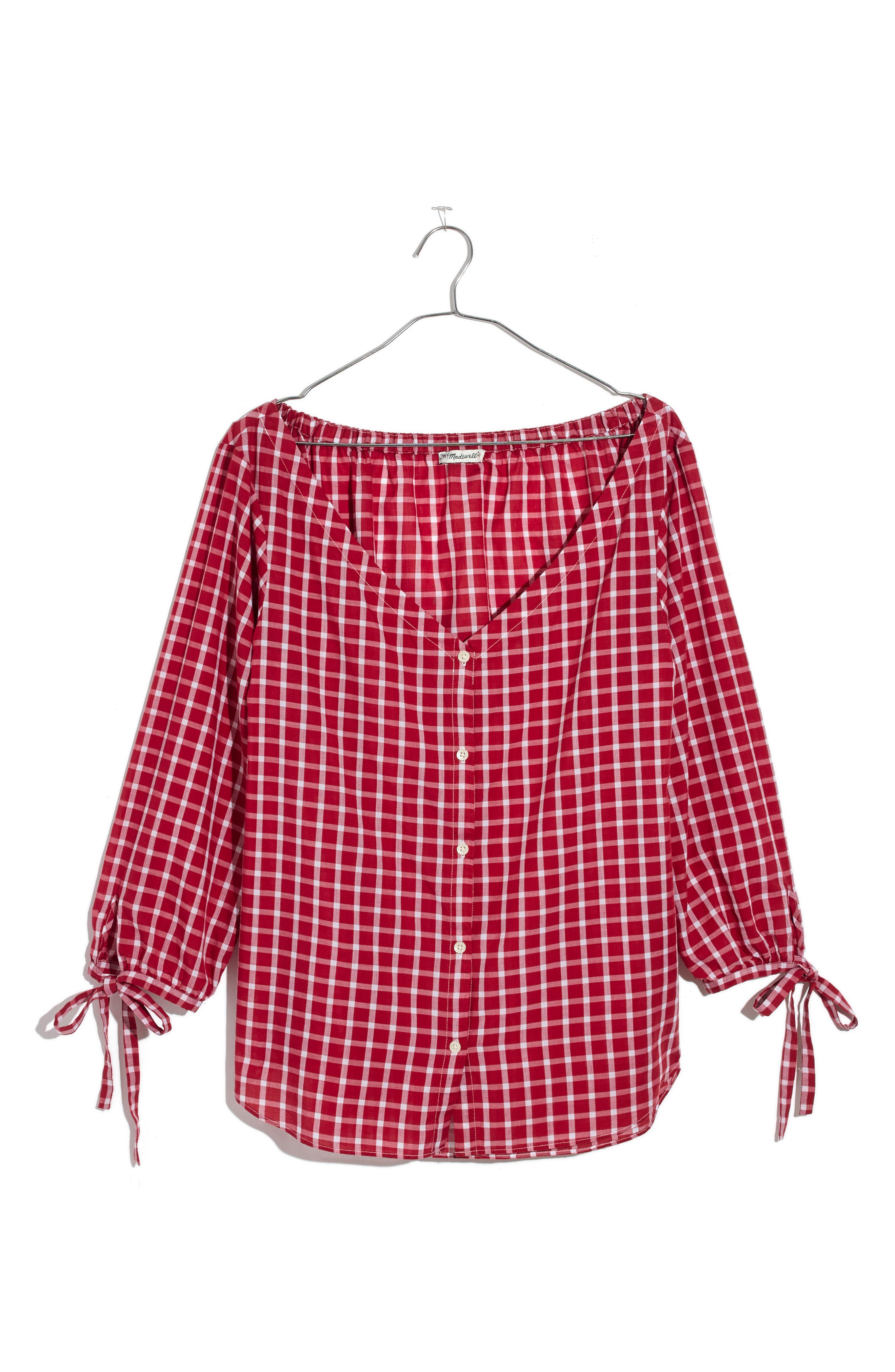 Main Image - Madewell Marie Tie Cuff Blouse