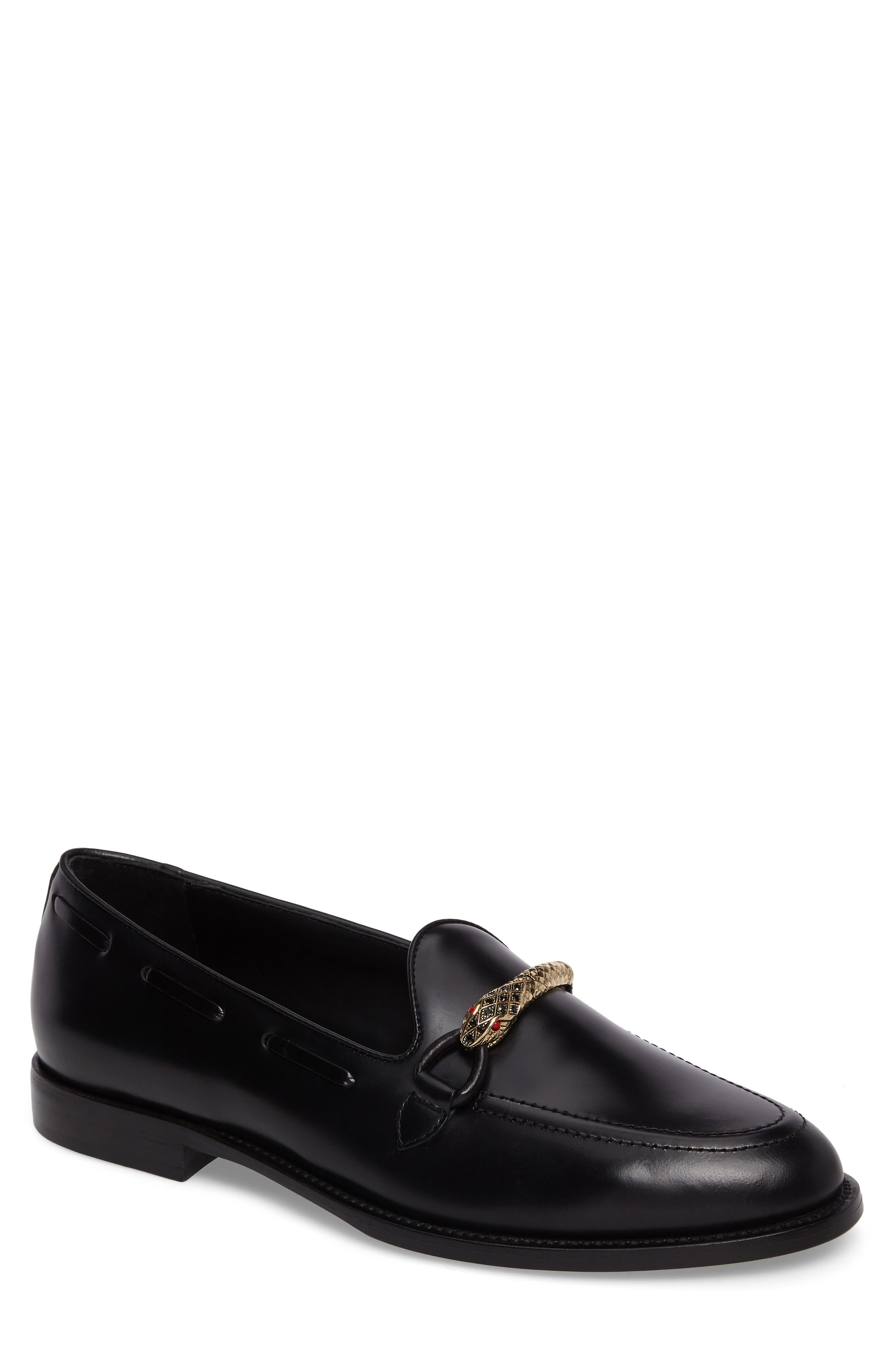 Serpent Bit Loafer,                         Main,                         color, Nero Leather