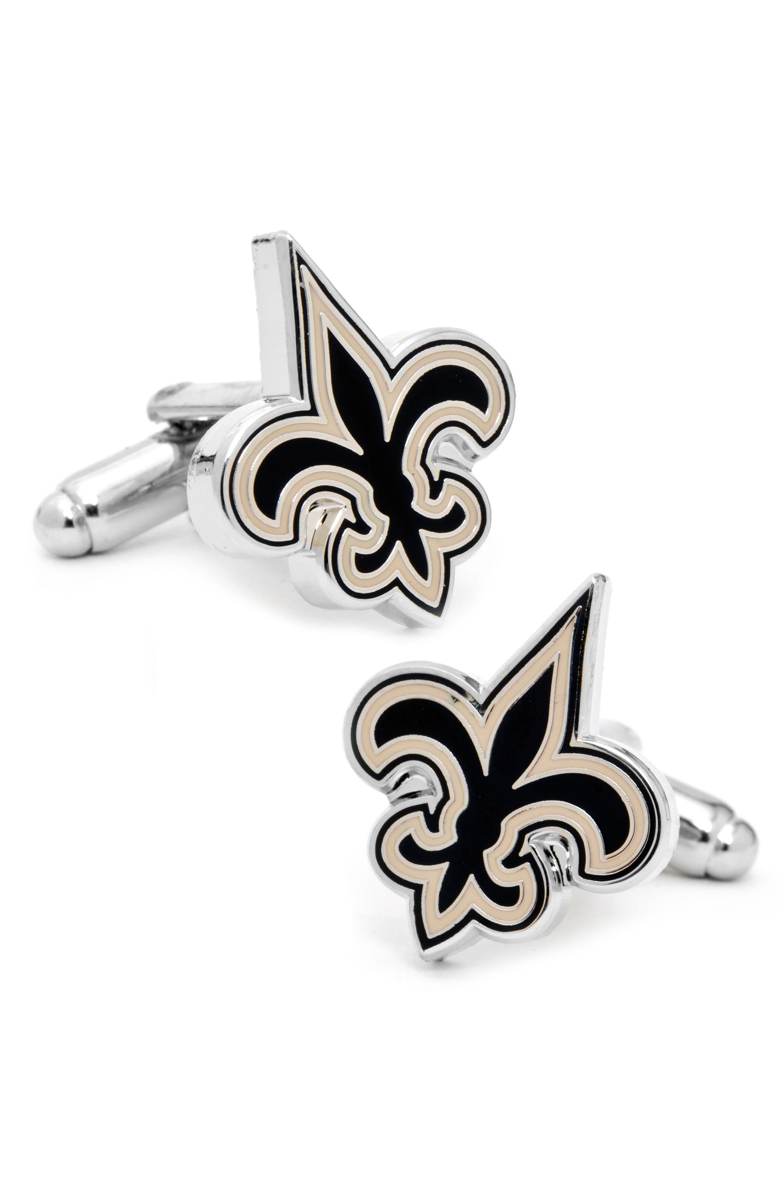 Cufflinks Inc. New Orleans Saints Cuff Links,                         Main,                         color, Black/ Gold