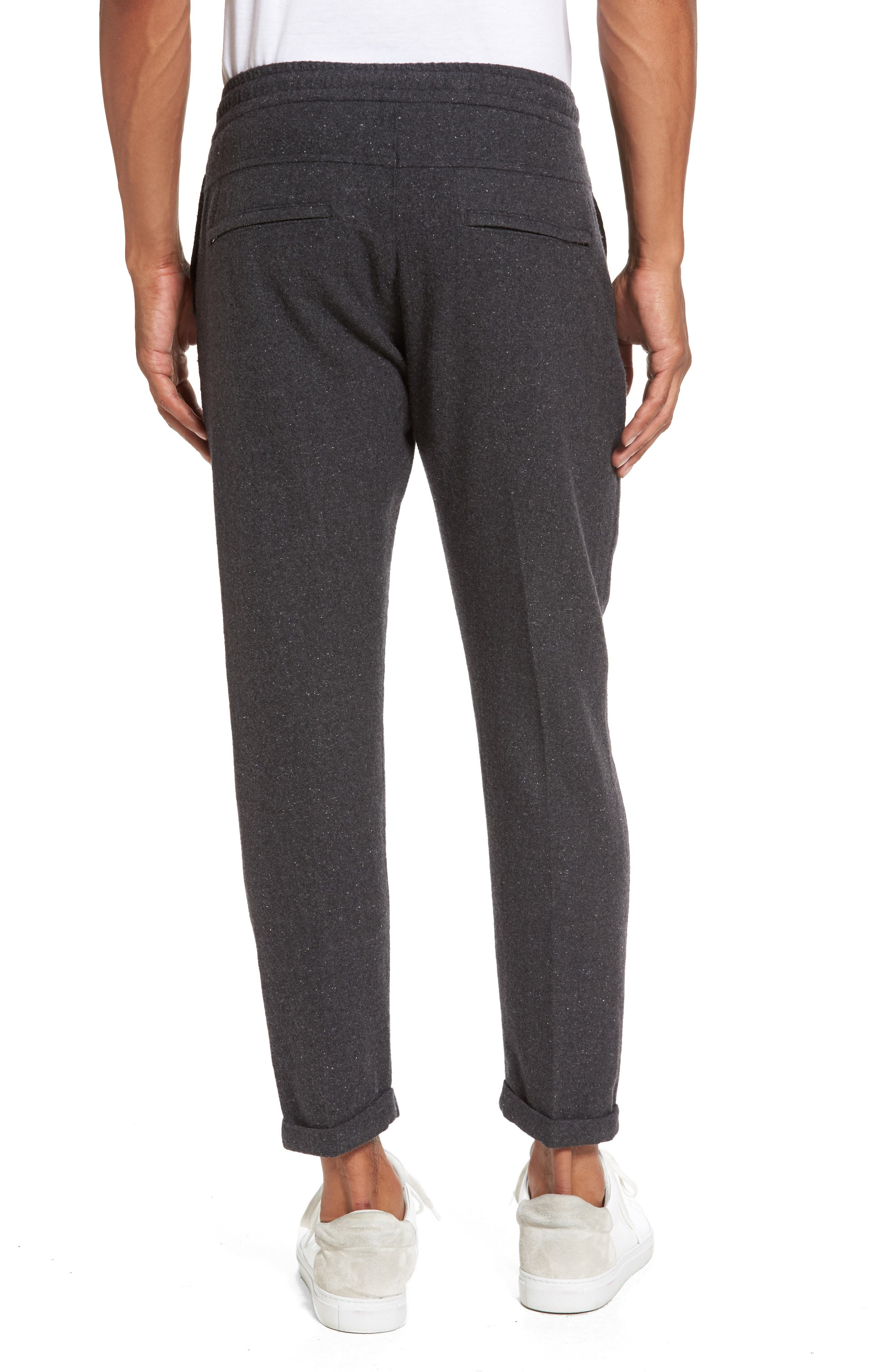 Donegal Stretch Wool Jogger Pants,                             Alternate thumbnail 2, color,                             Dark Grey