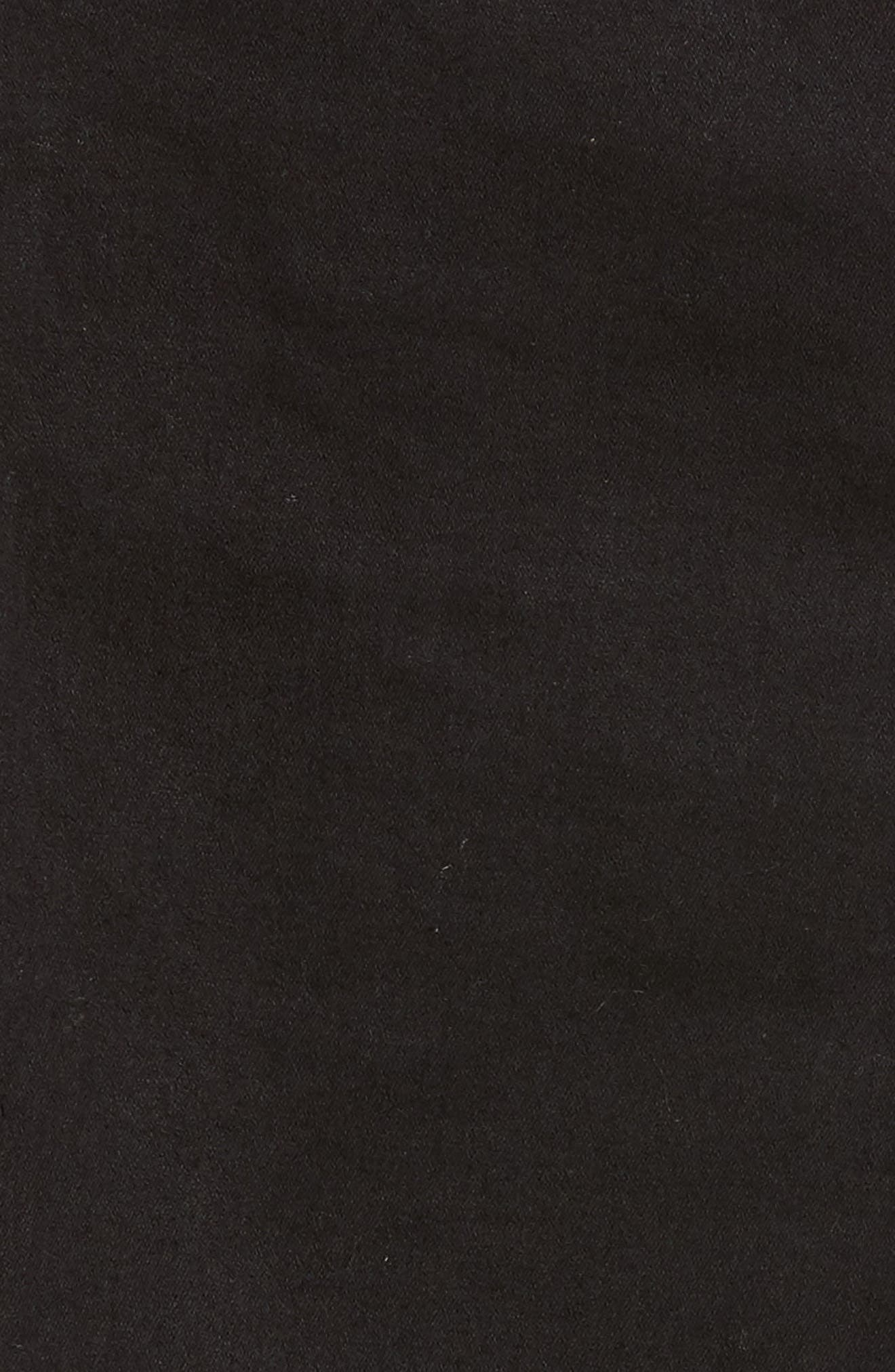 High Rise Skinny Stirrup Jeans,                             Alternate thumbnail 6, color,                             Black