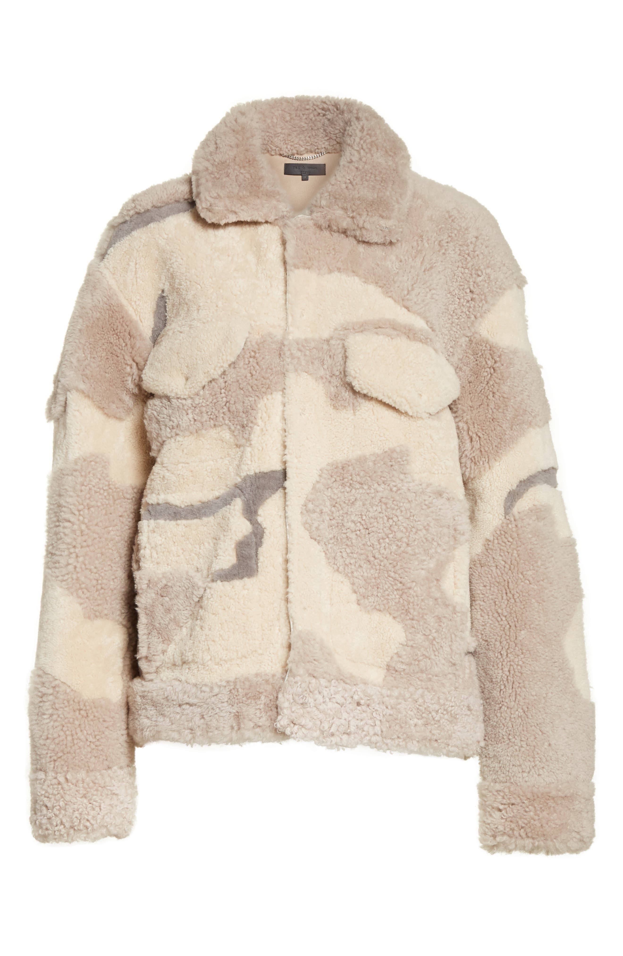 Alternate Image 8  - rag & bone Jake Camo Genuine Shearling Jacket