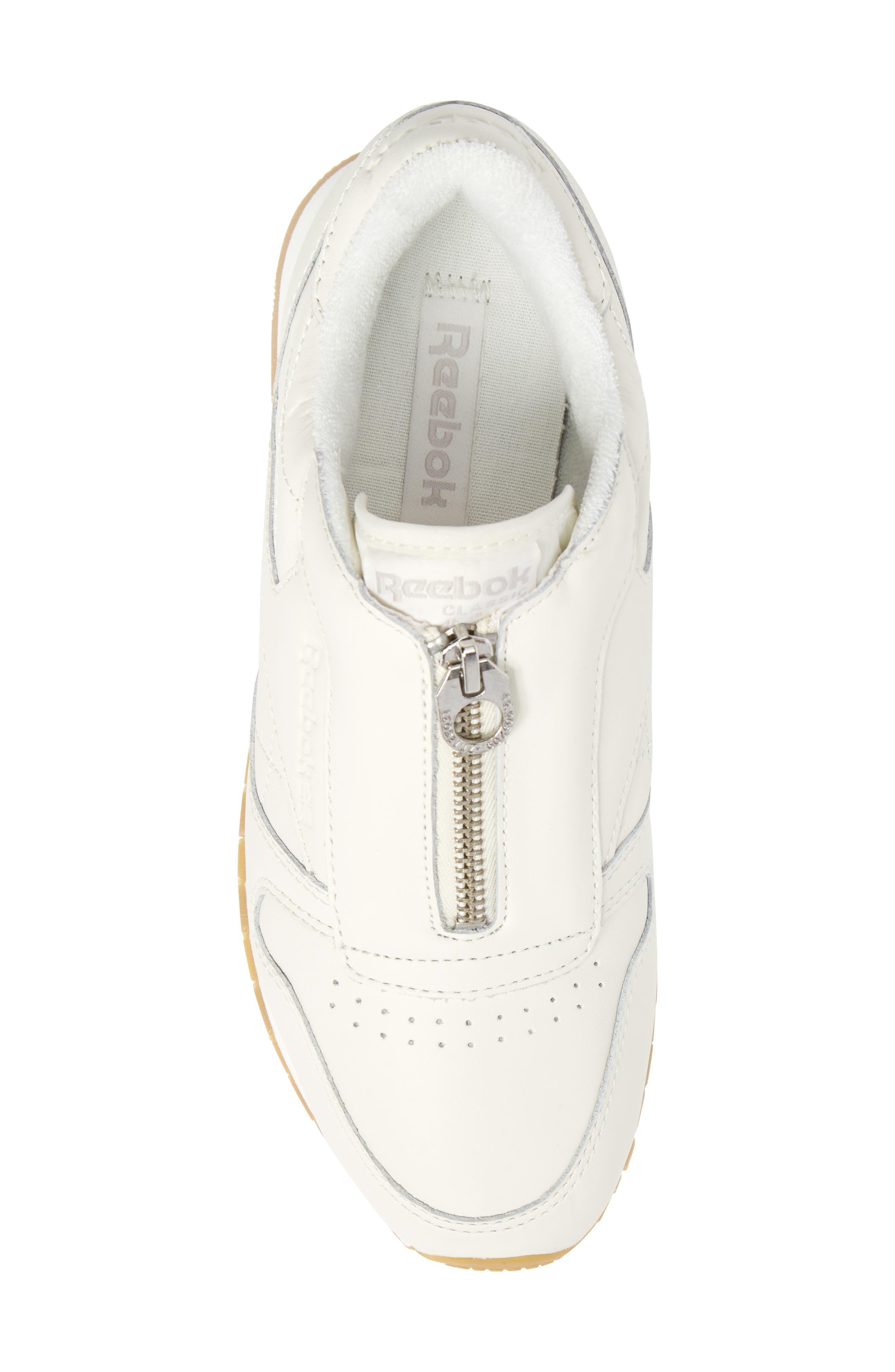 Alternate Image 5  - Reebok Classic Leather Zip Sneaker (Women)
