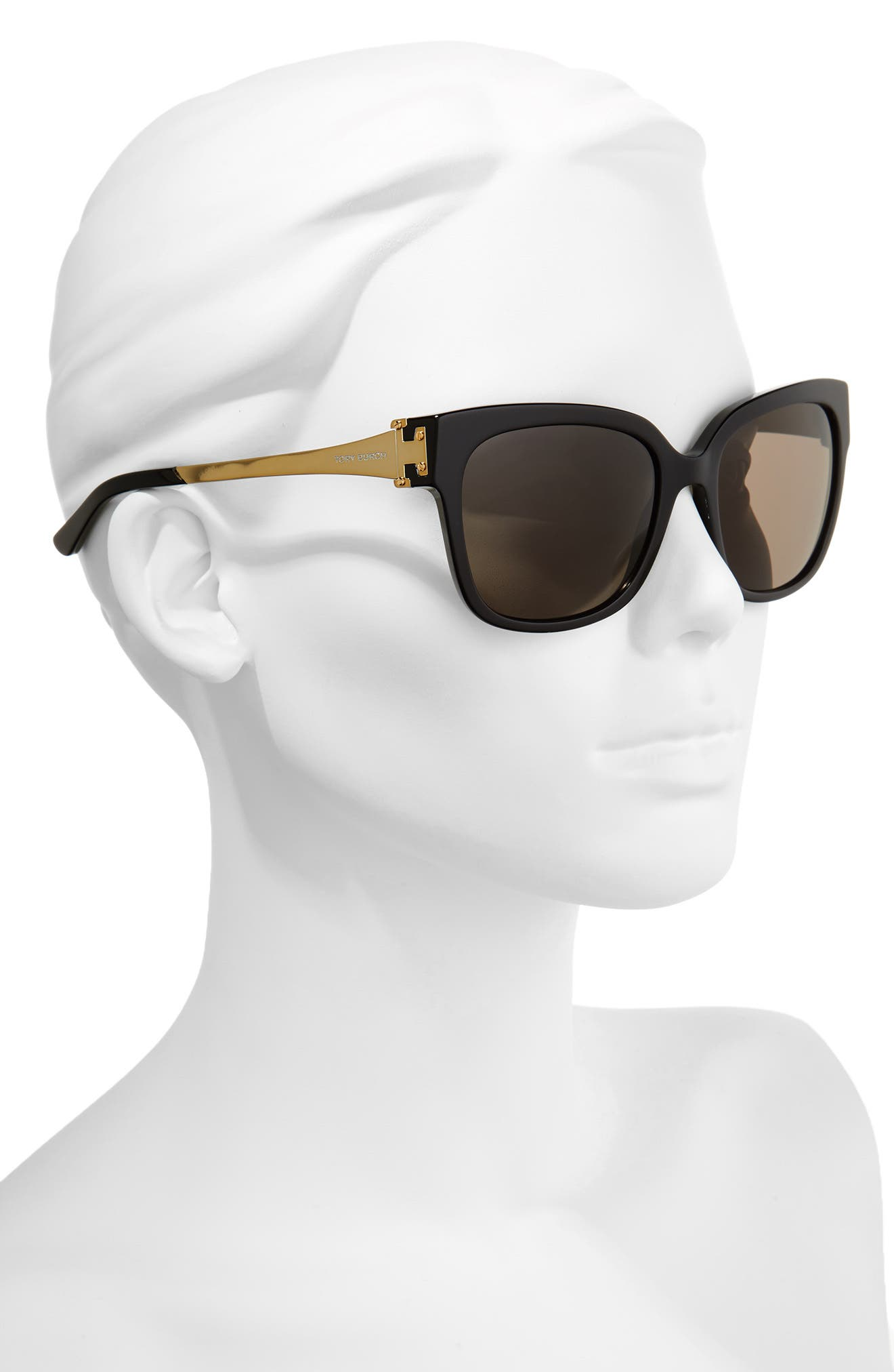 57mm Sunglasses,                             Alternate thumbnail 2, color,                             Black