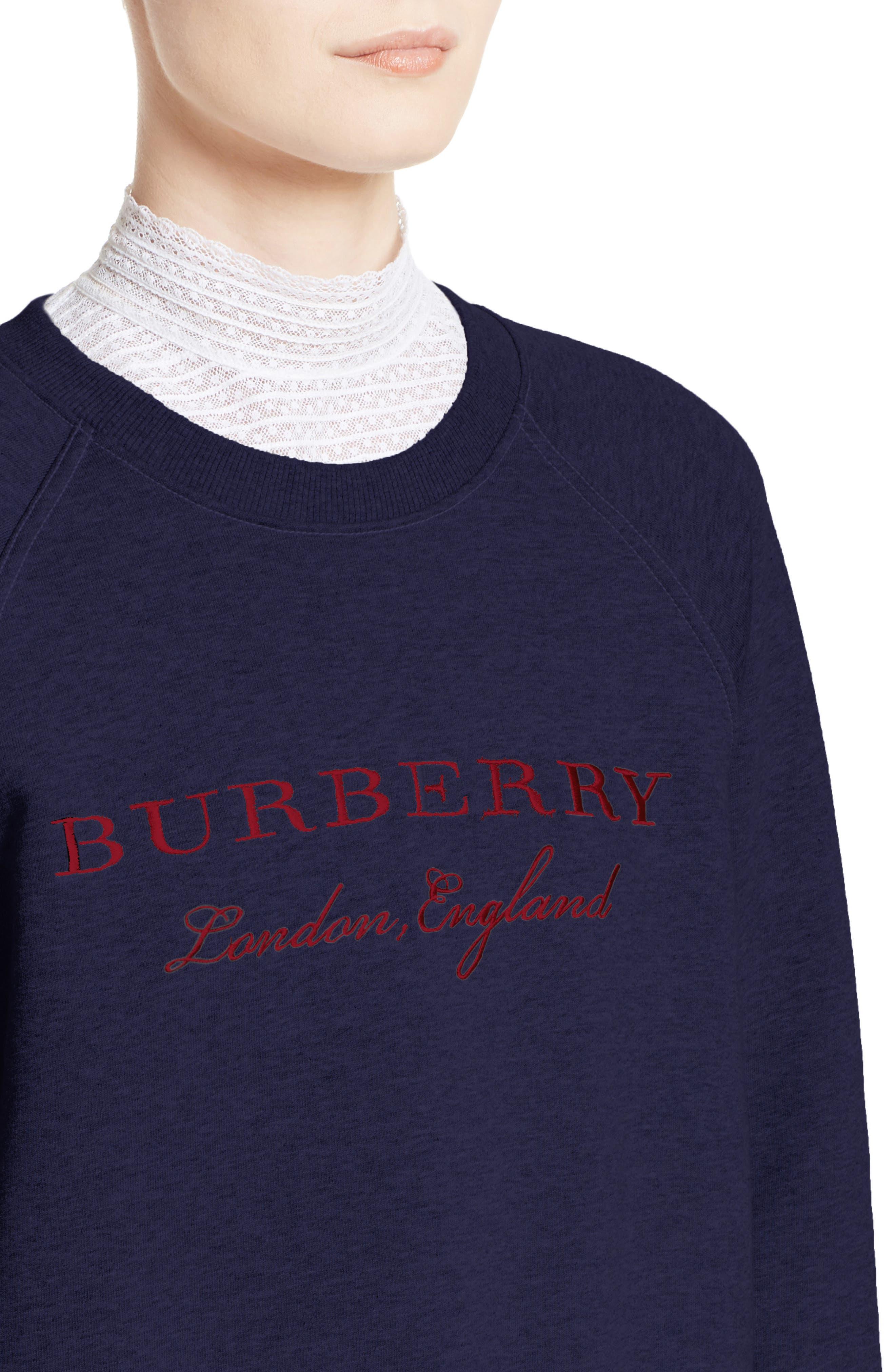 Alternate Image 5  - Burberry Torto Embroidered Sweatshirt