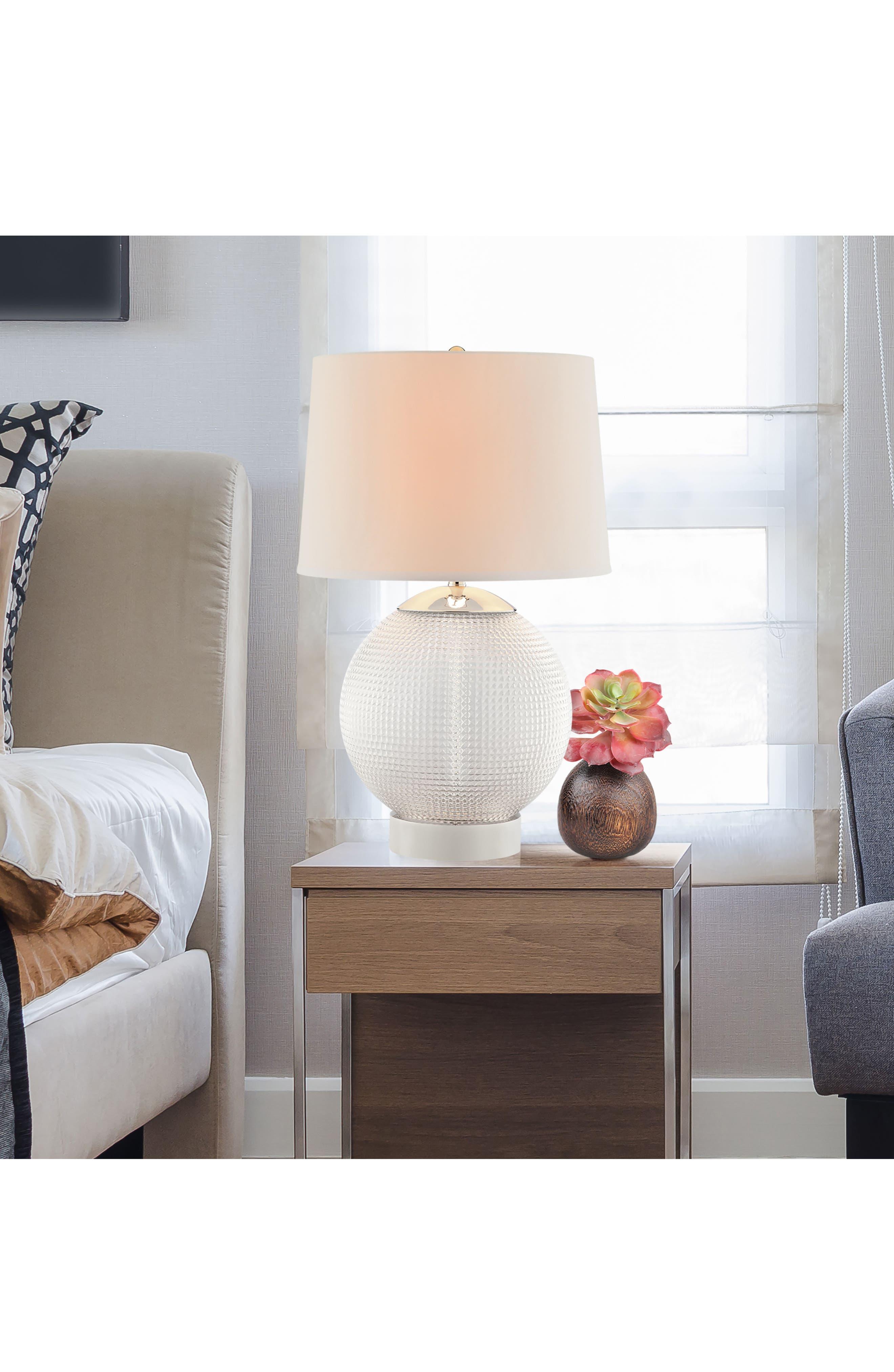 JAlexander Olivia Table Lamp,                             Alternate thumbnail 2, color,                             White