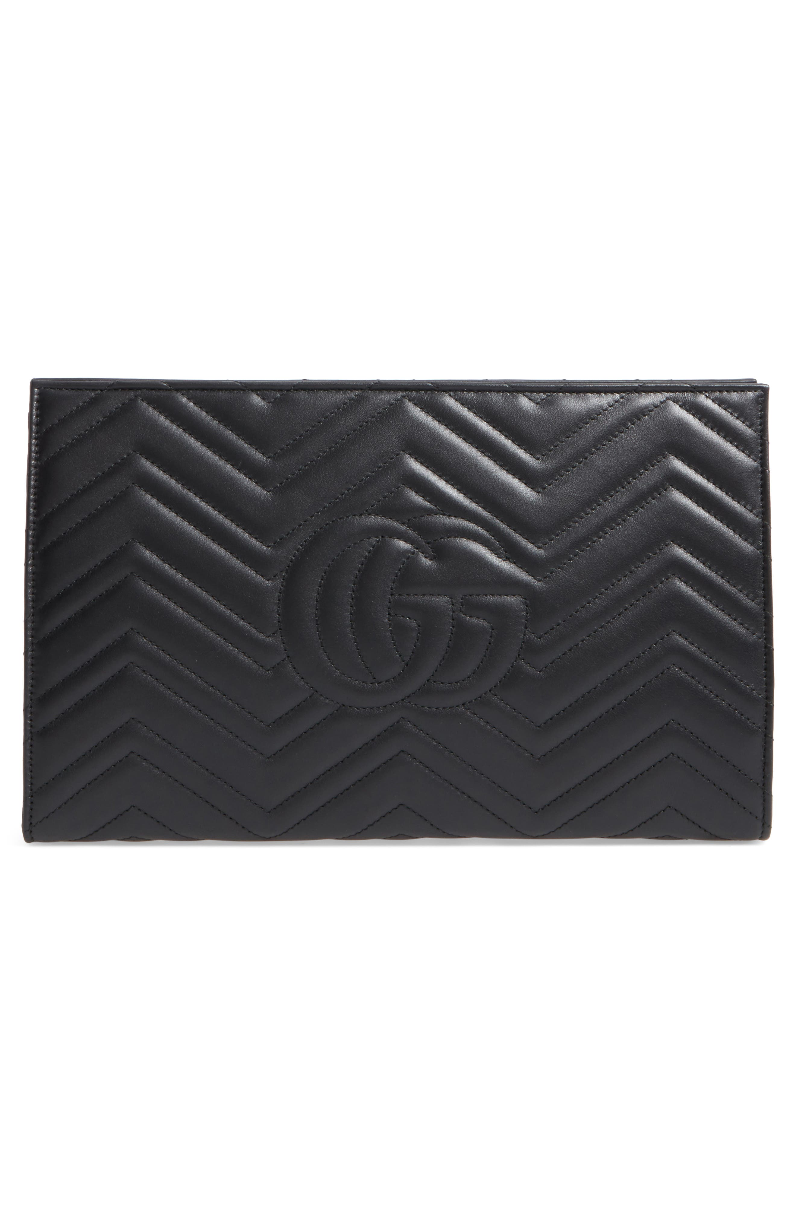 Alternate Image 3  - Gucci GG Marmont Matelassé Leather Clutch