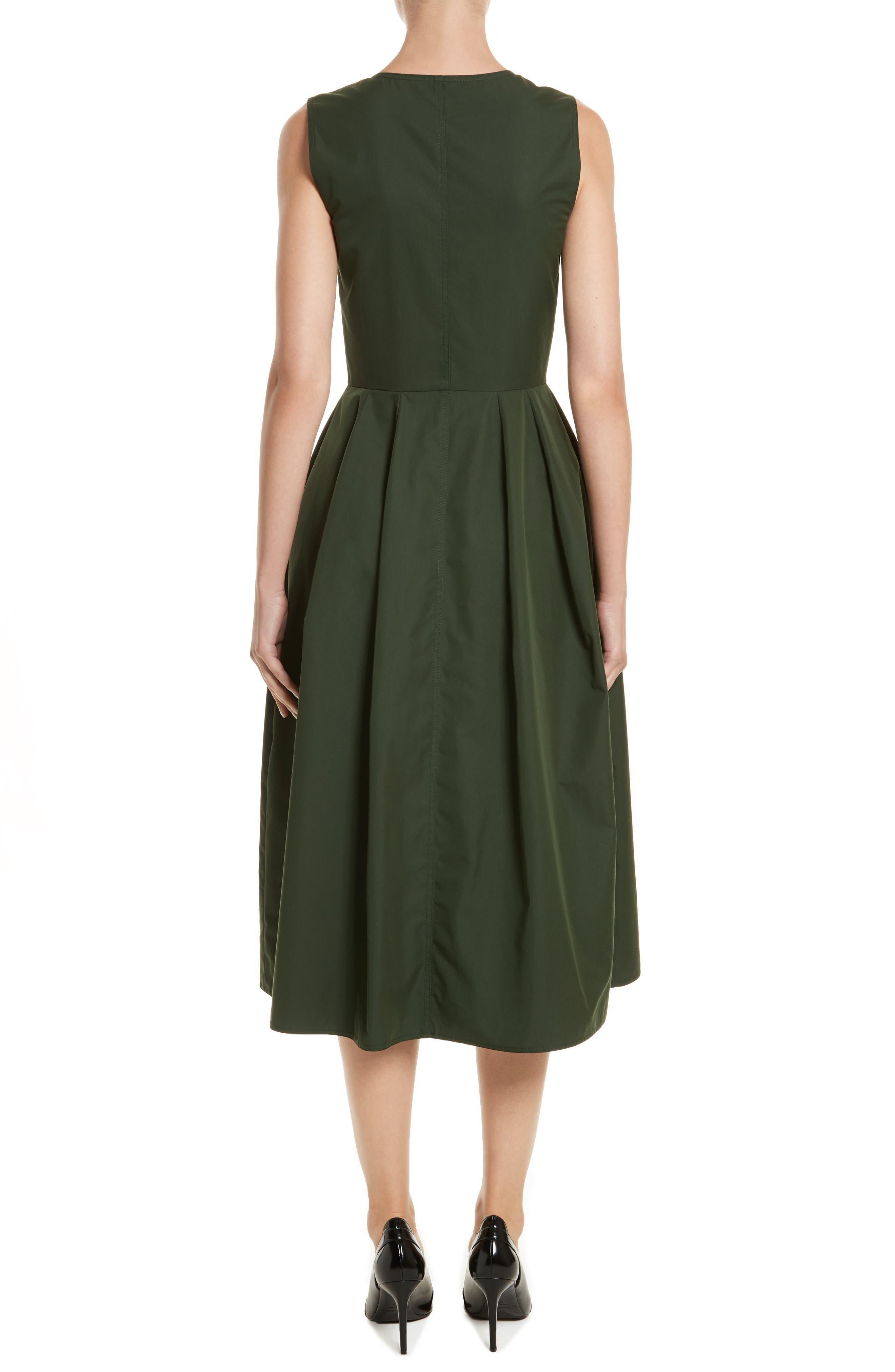 Safari Micro Twill Dress,                             Alternate thumbnail 2, color,                             Fern