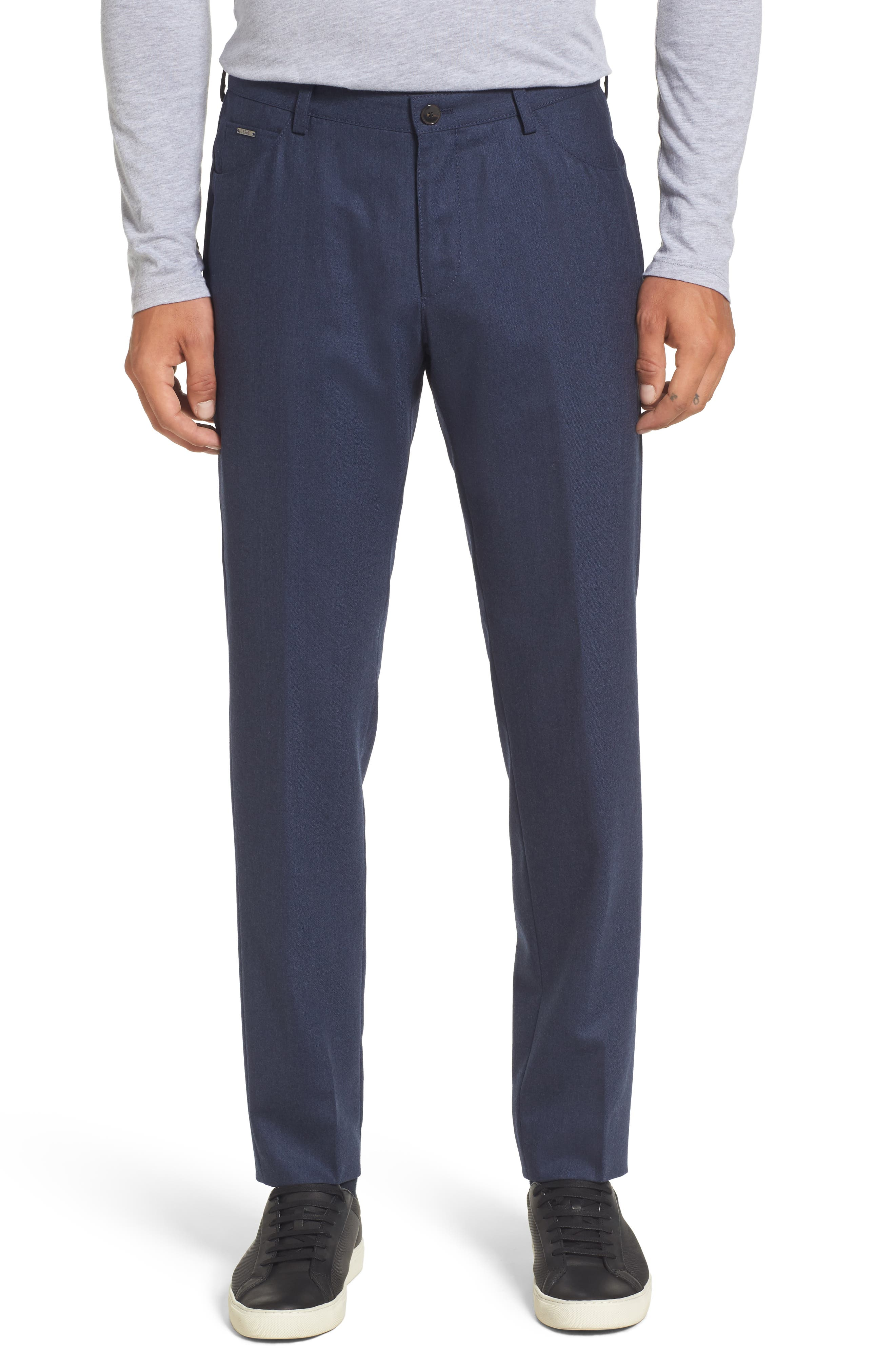 Main Image - BOSS Gaetano Regular Fit Wool Trousers